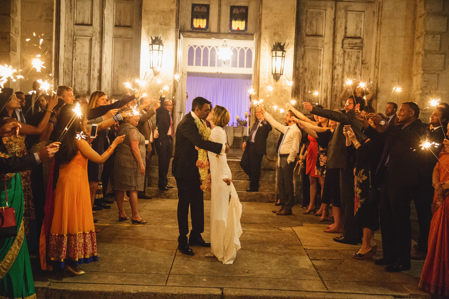 Southern Fete, Southern Wedding, Sparkler Exit, Bride and Groom, E Ray Photo
