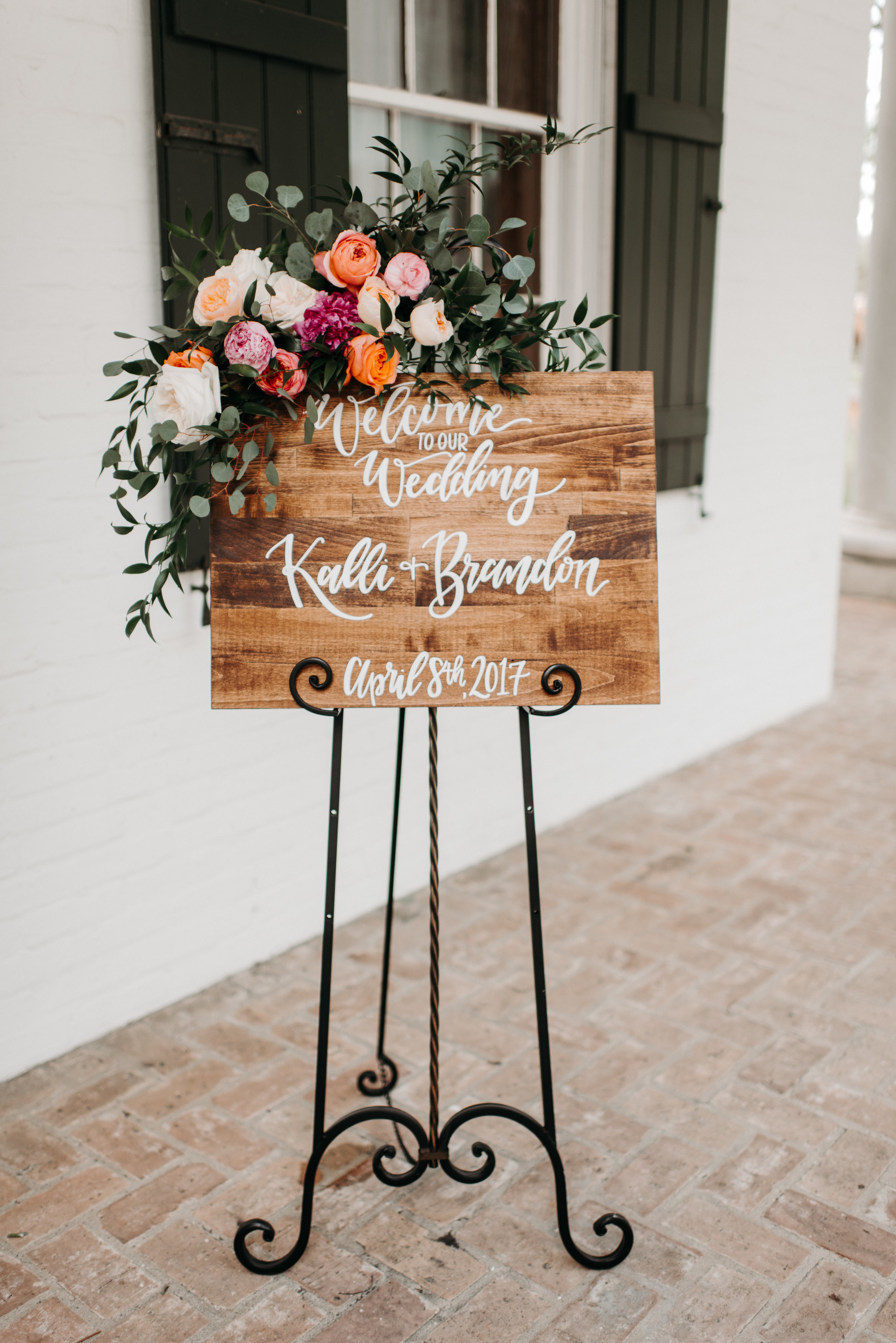 Southern Fete, Southern Wedding, Welcome Sign, Hannah Mulligan Photography, Root Floral Design