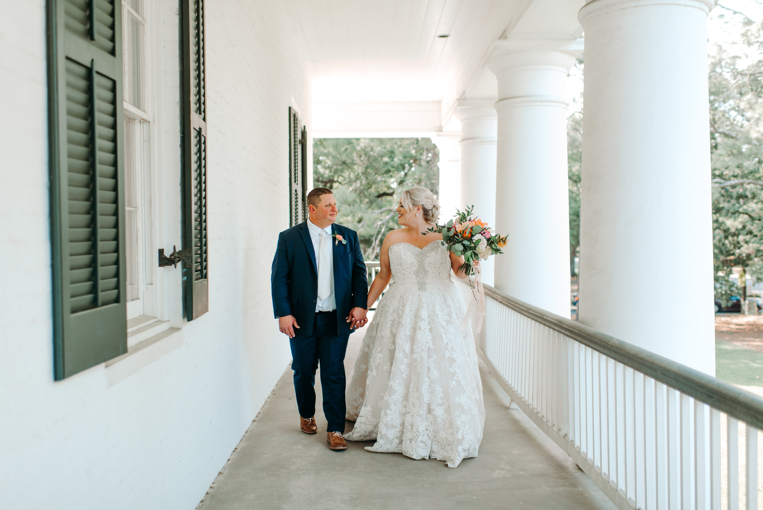 Southern Fete, Southern Wedding, Root Floral Design, Bride and Groom, Paul and Lulu Hilliard Art Museum, Hannah Mulligan Photography