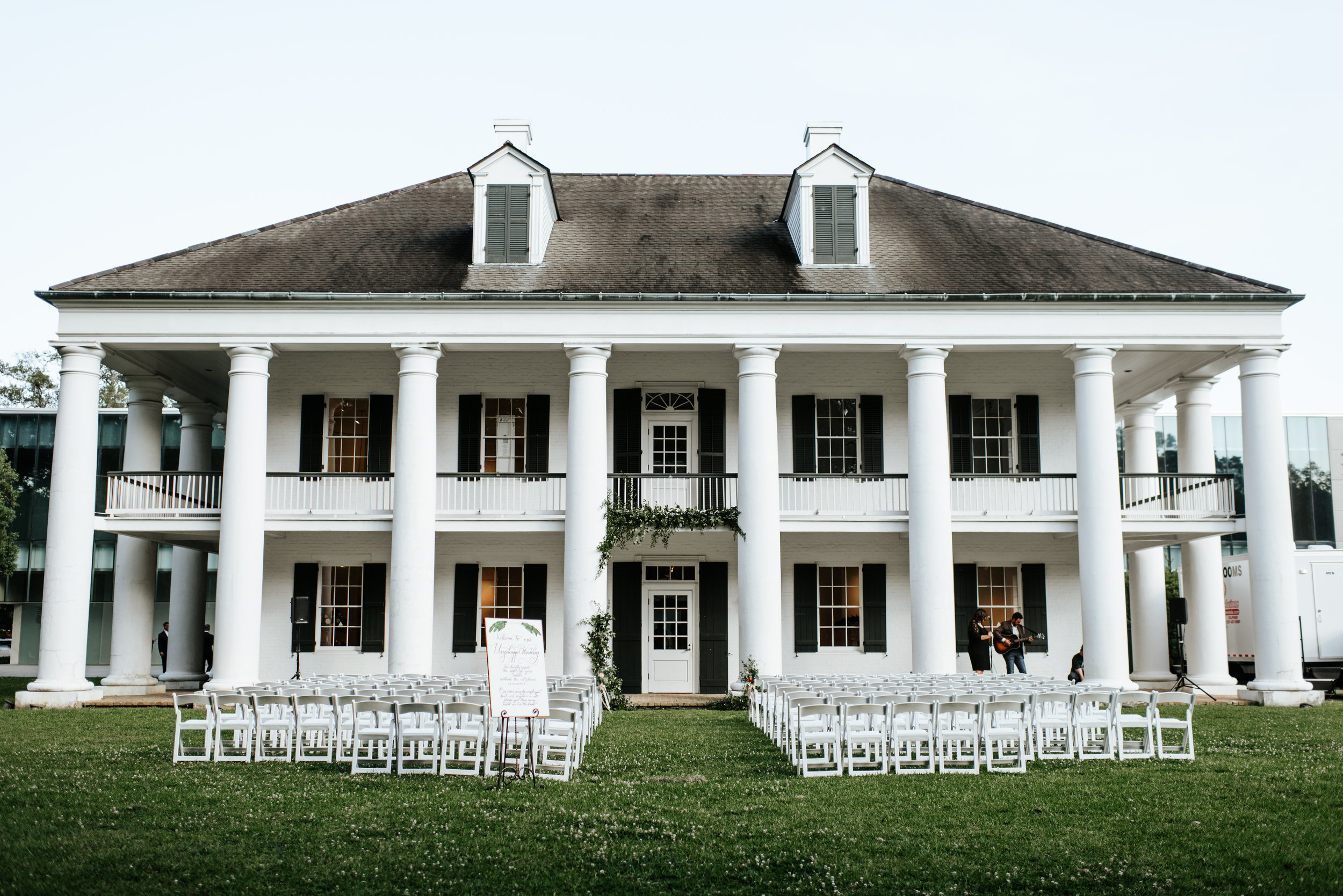Southern Fete, Southern Wedding, Paul and Lulu Hilliard Art Museum, Wedding ceremony