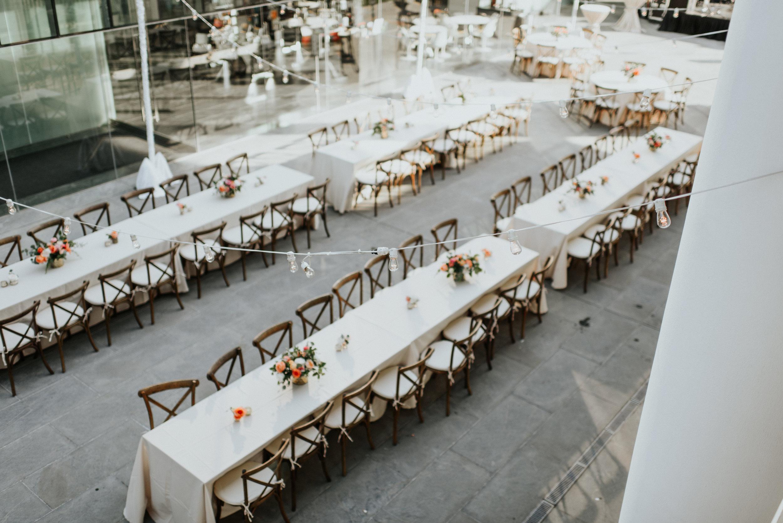 Southern Fete, Southern Wedding, Outside Reception, Paul and Lulu Hilliard Art Museum