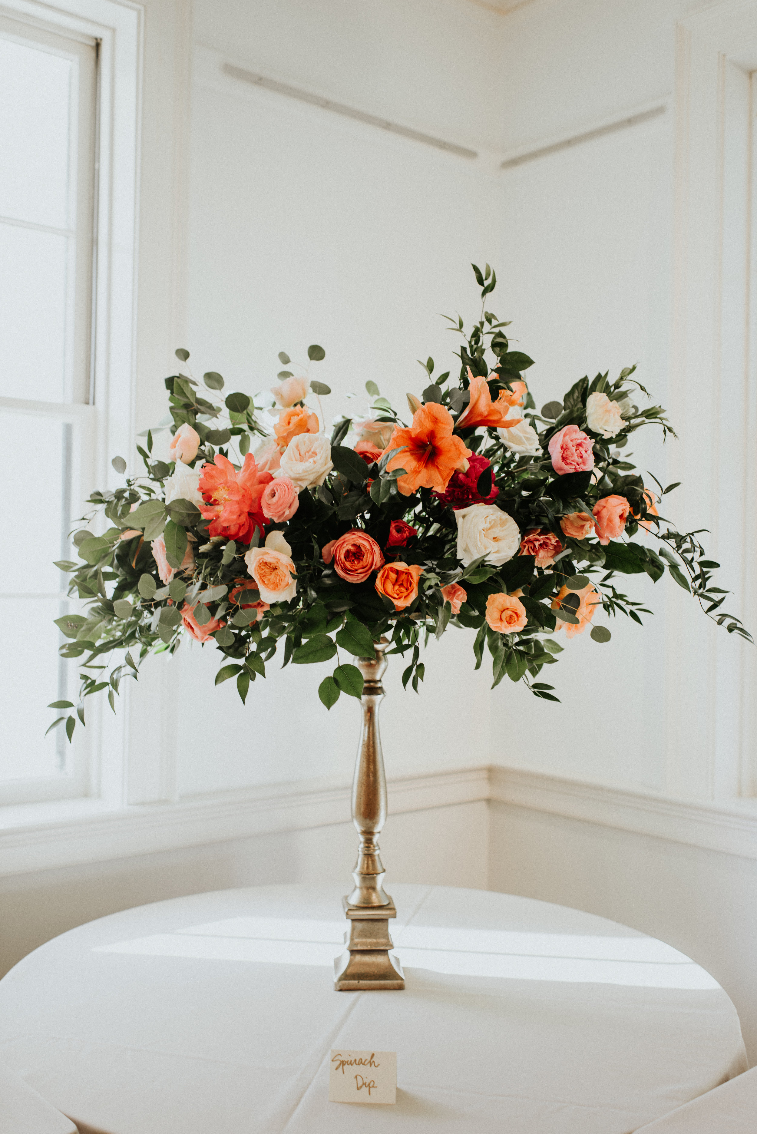 Southern Fete, Southern Wedding, Root Floral Design, Pink and Coral Flower Bouquet