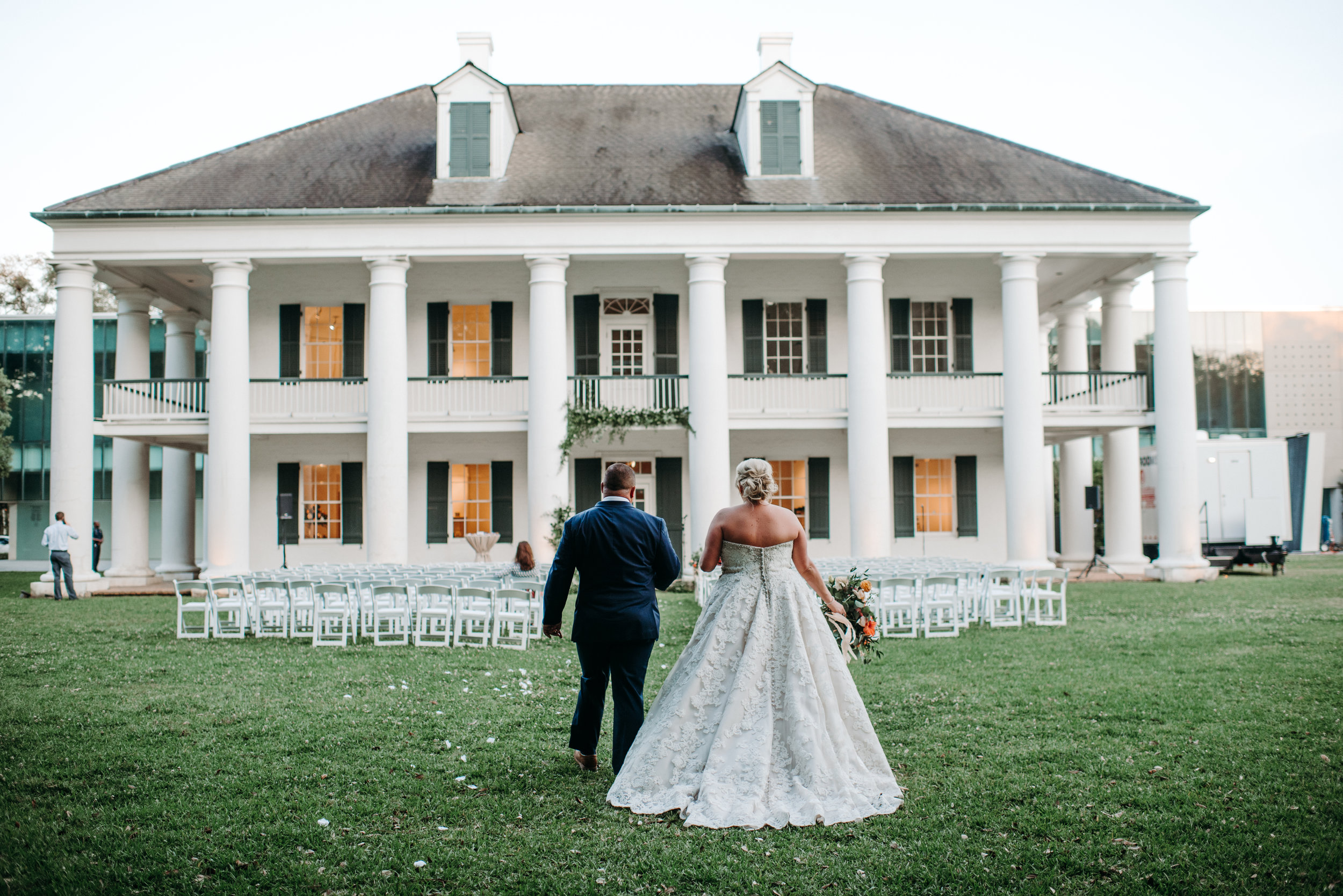 Southern Fete, Southern Wedding, Paul and Lulu Hilliard Art Museum, Bride and Groom, Hannah Mulligan Photography