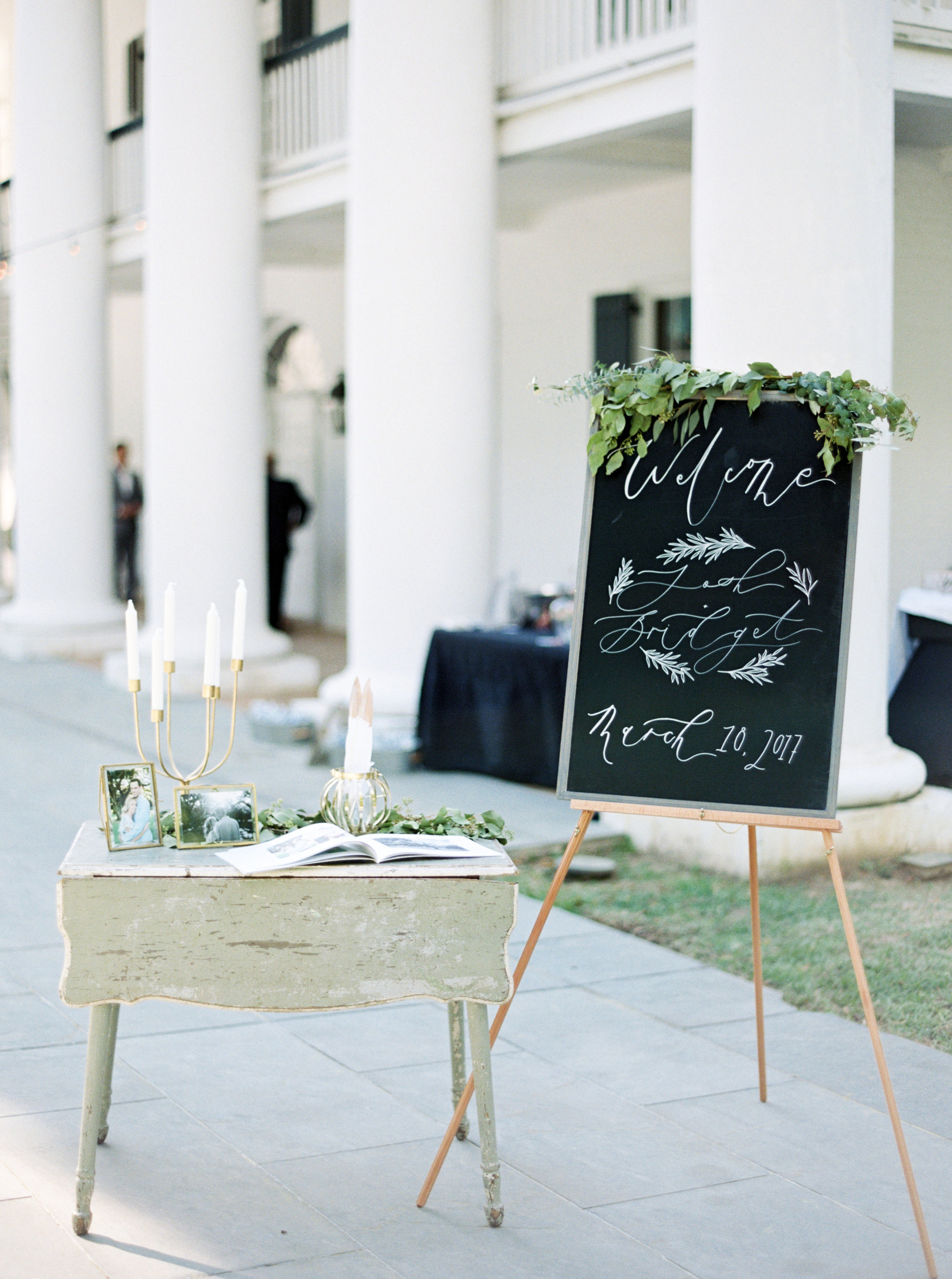Southern Fete, Southern Wedding, Welcome Sign, Carolynn Seibert Photography