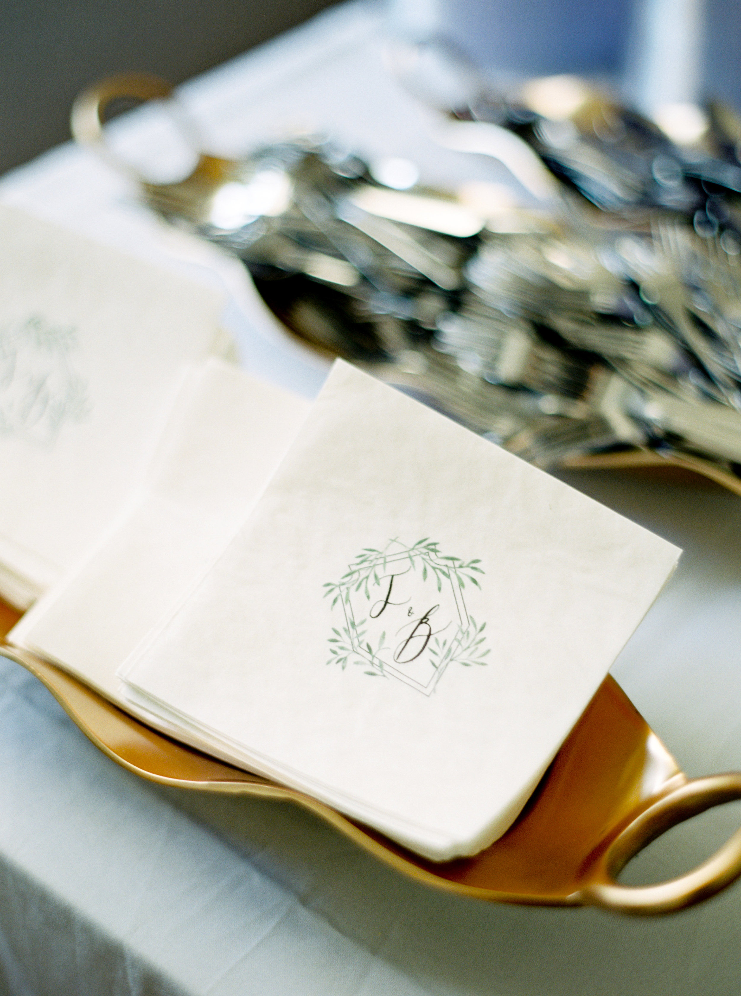 Southern Fete, Southern Wedding, Event Rentals, Initialed Napkins, Carolynn Seibert Photography