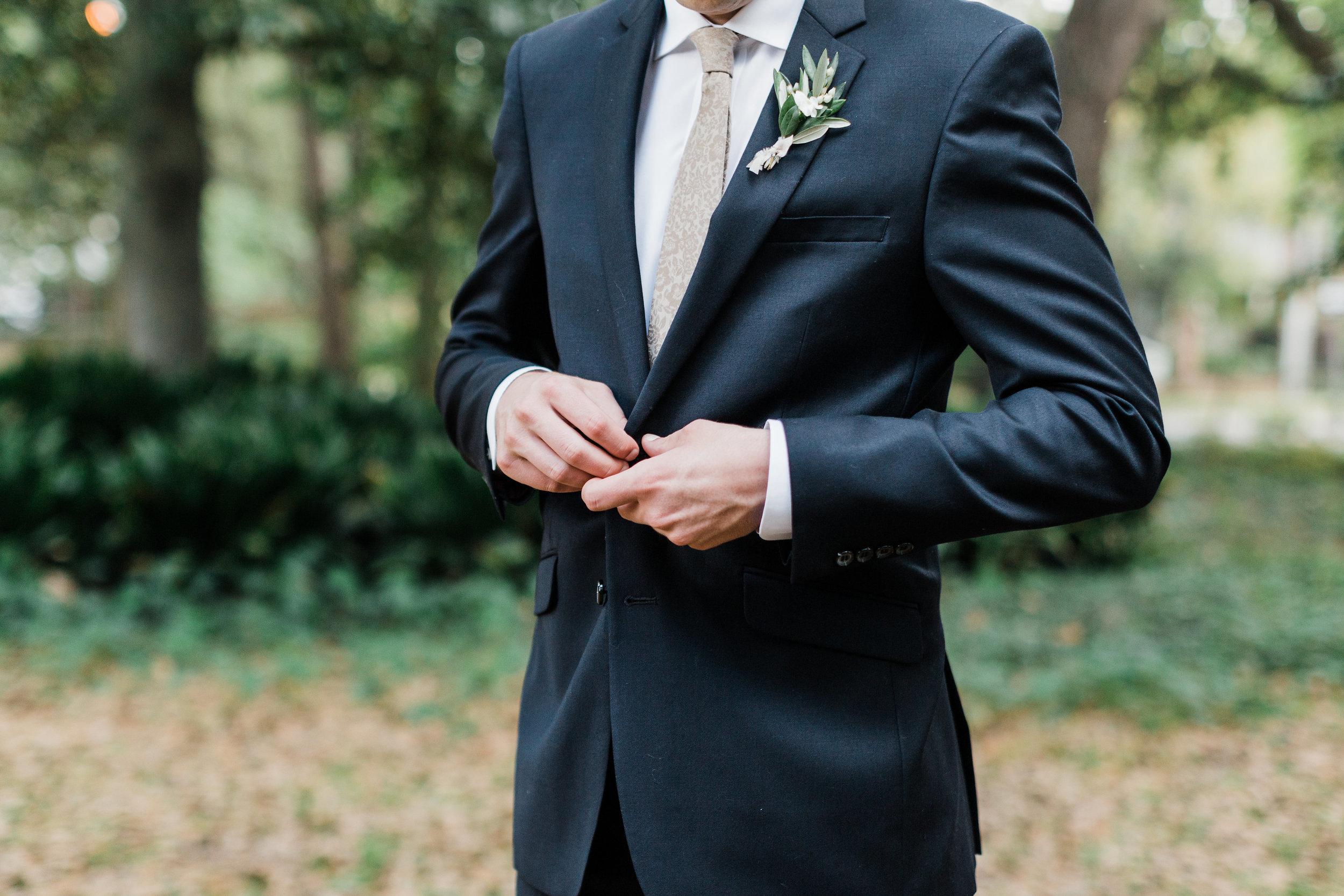 Southern Fete, Southern Wedding, Groom's Tux, Carolynn Seibert Photography