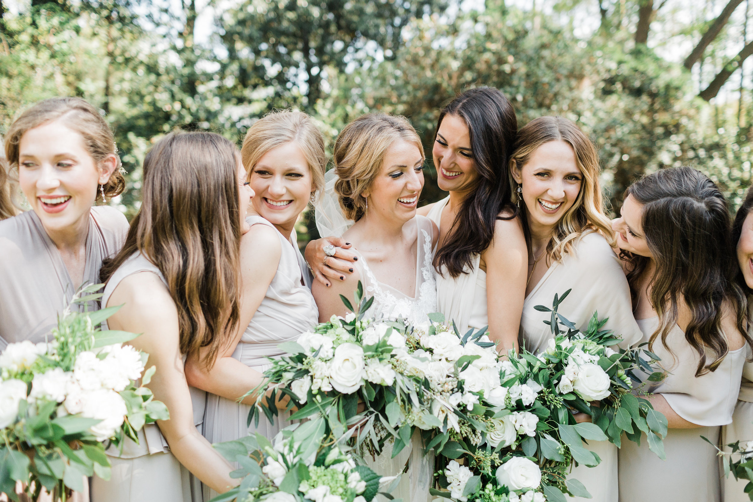 Southern Fete, Southern Wedding, Sweet Olive Floral, Bride and Bridesmaids, Carolynn Seibert Photography