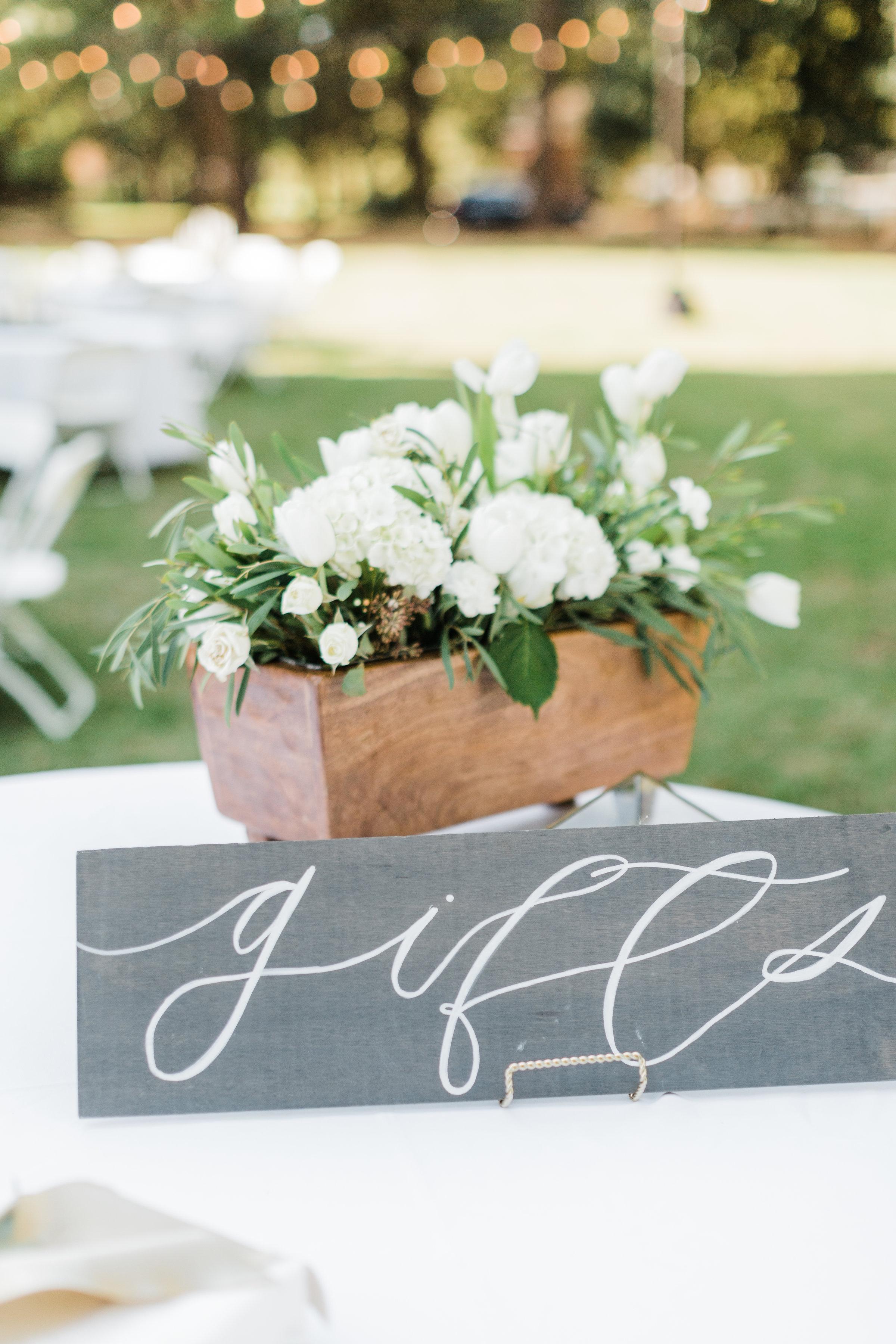 Southern Fete, Southern Wedding, Gift Table, Carolynn Seibert Photography