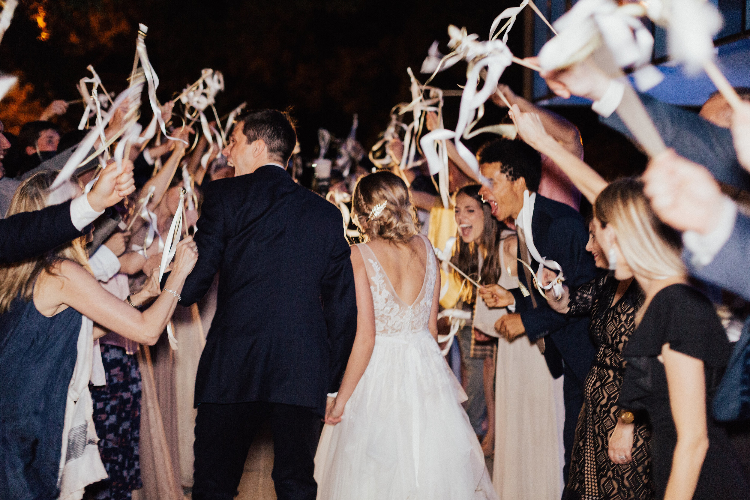 Southern Fete, Southern Wedding, Bride and Groom, Ribbon Exit, Carolynn Seibert Photography, Easytown Sound Co.
