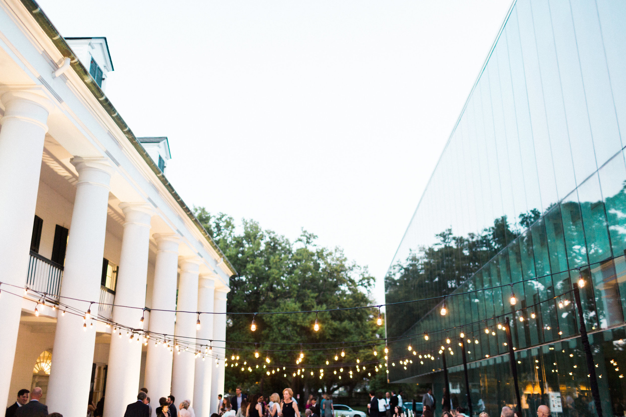 Southern Fete, Southern Wedding, Paul and Lulu Hilliard Art Museum, Outside Lights