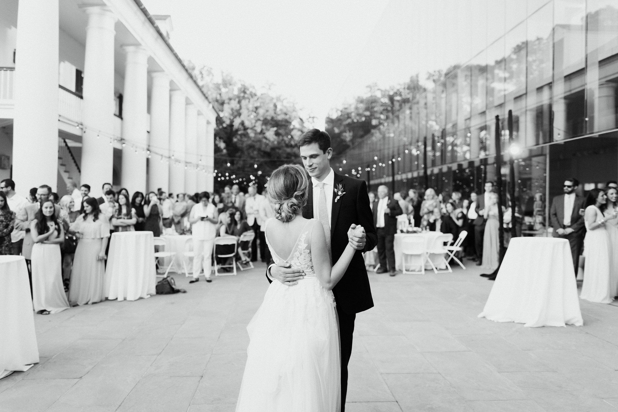 Southern Fete, Southern Wedding, Bride and Groom, First Dance, Carolynn Seibert Photography, Paul and Lulu Hilliard Art Museum