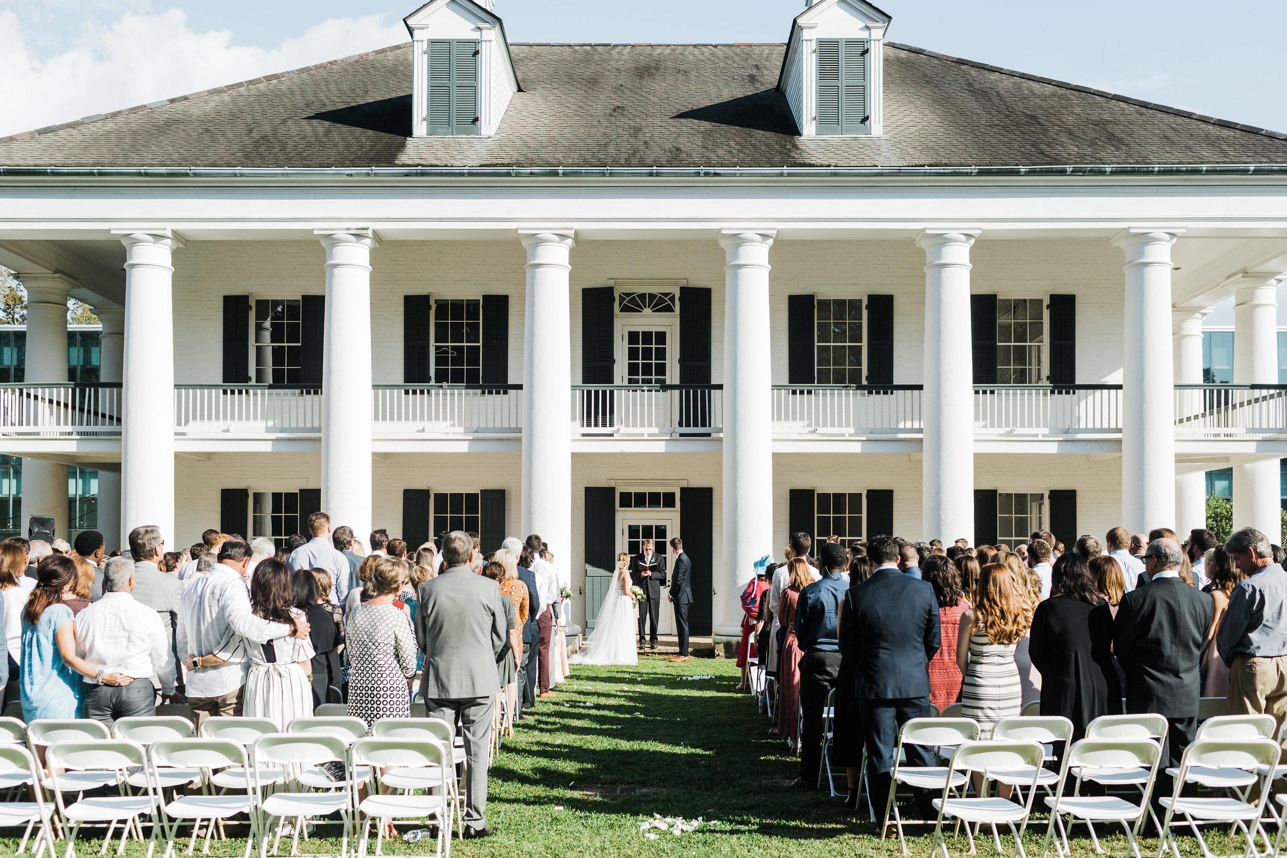 Southern Fete, Southern Wedding, Paul and Lulu Hilliard Art Museum, Ceremony, Carolynn Seibert Photography