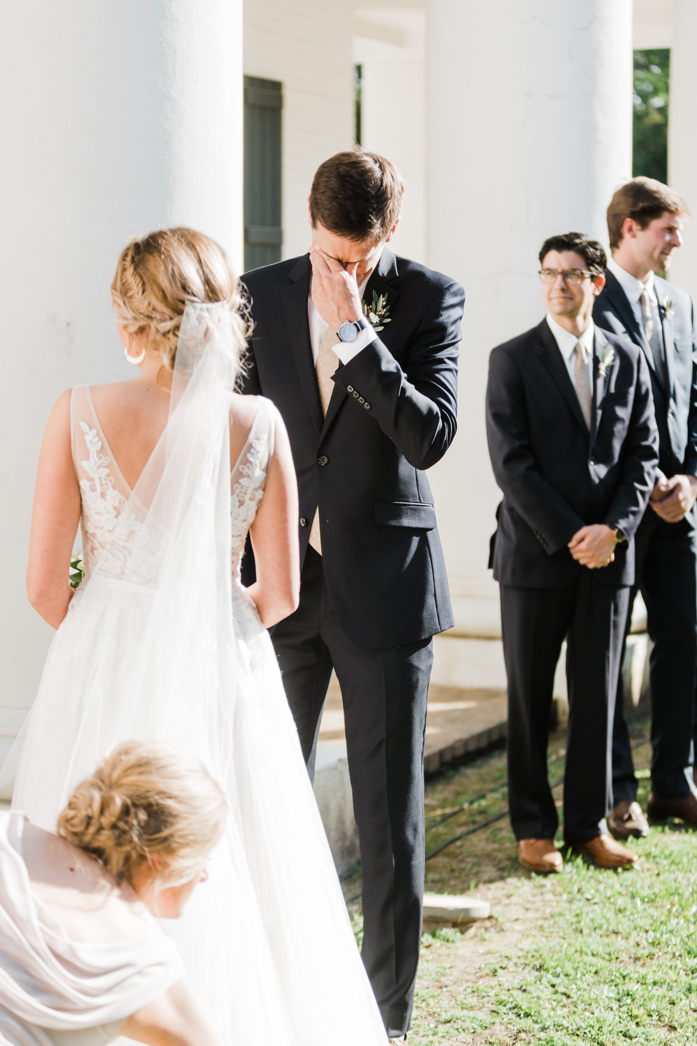 Southern Fete, Southern Wedding, Bride and Groom Ceremony, Carolynn Seibert Photography