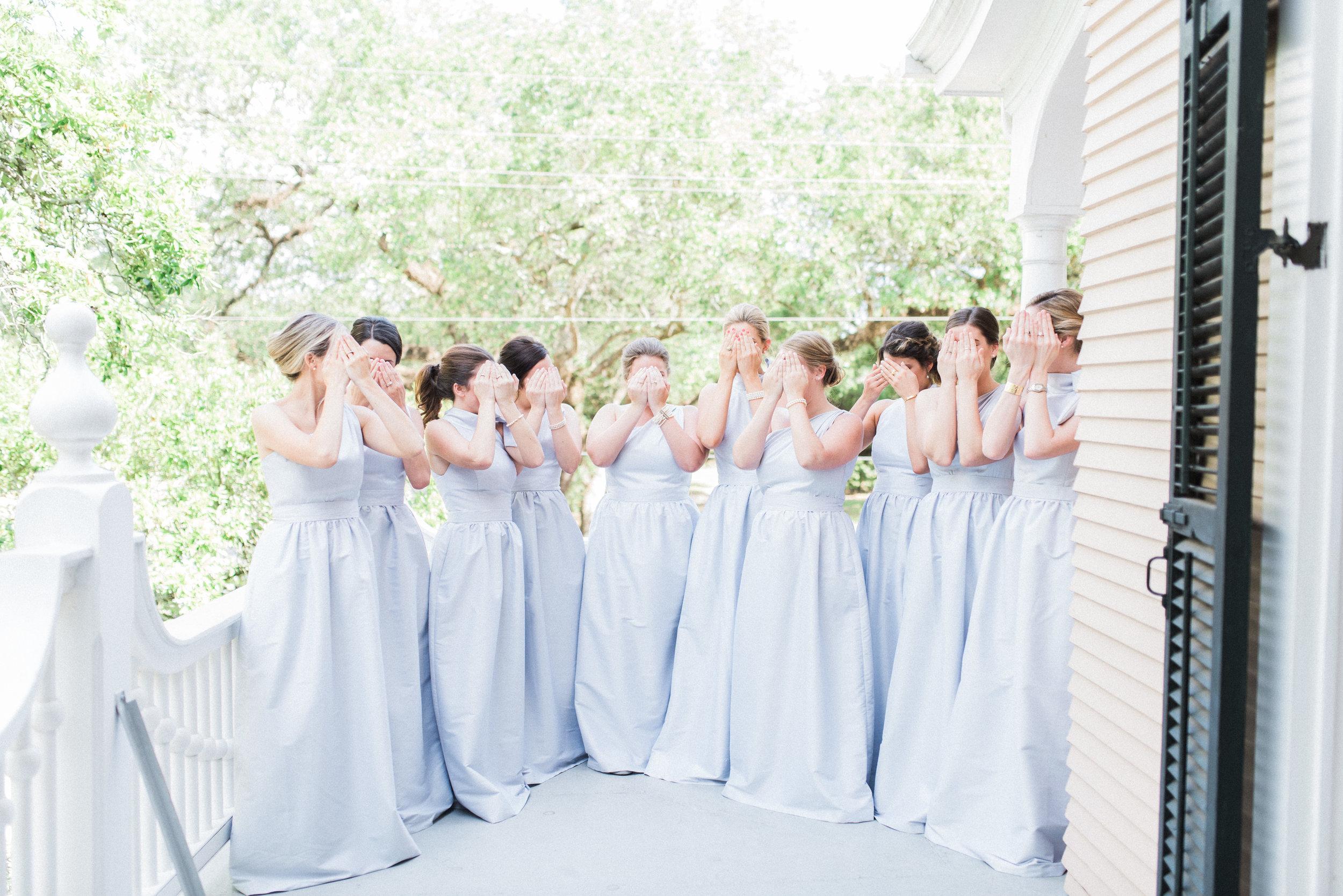 Southern Fete, Southern Wedding, Bridesmaids, Light Blue Bridesmaid dresses