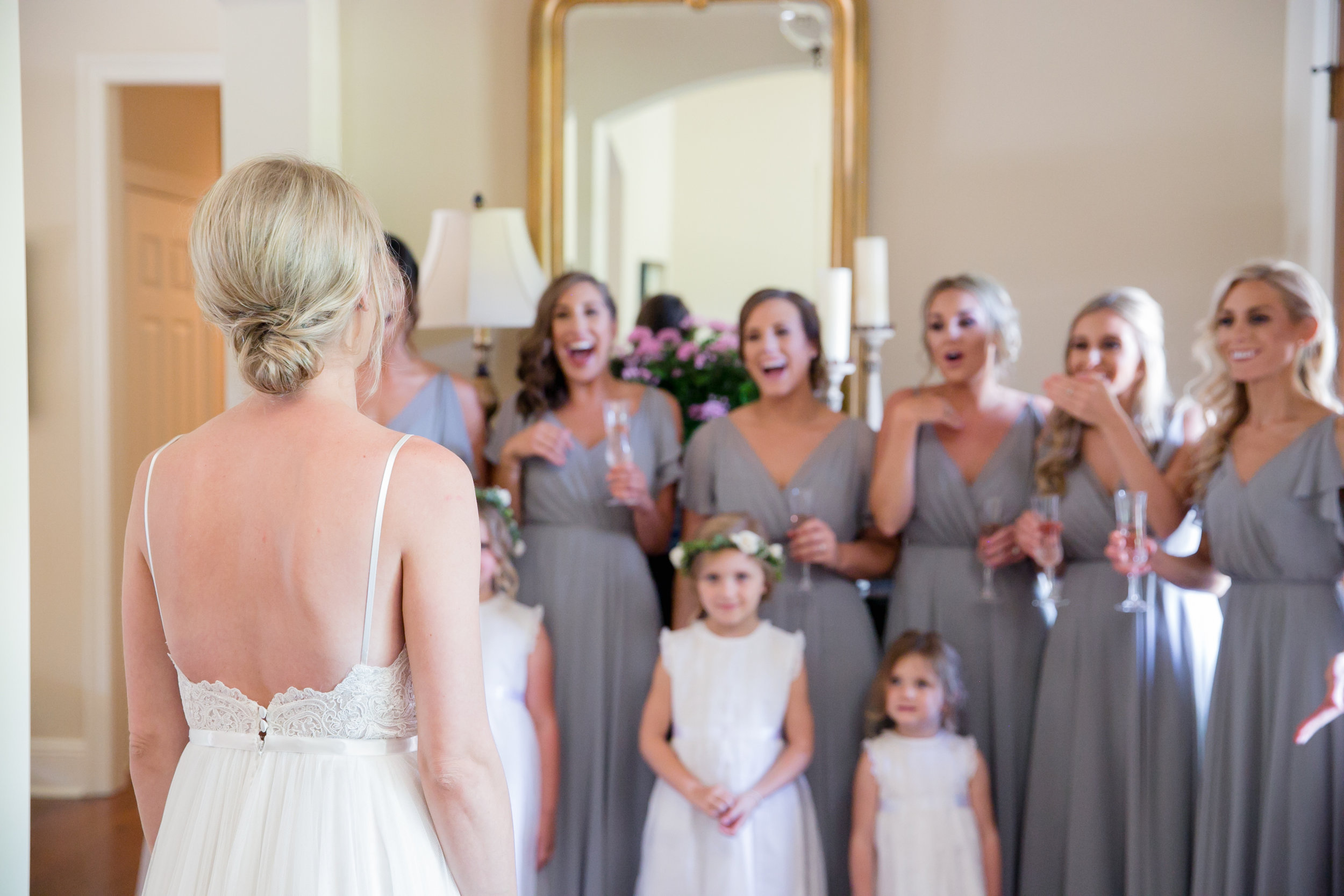 Southern Fete, Southern Wedding, Bridesmaids reactions, Brocato Photography
