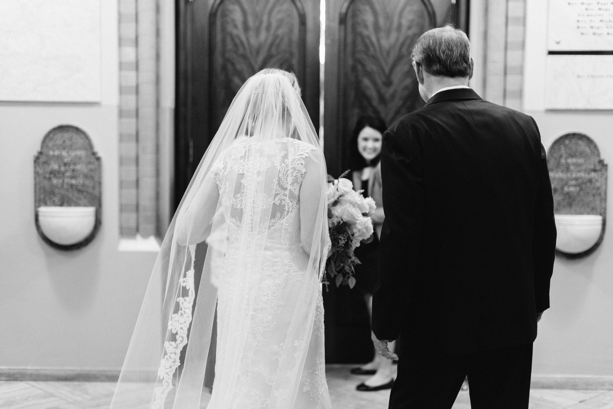 Southern Fete, Southern Wedding, Ceremony, Father walking Bride, Sarah Beth Photography