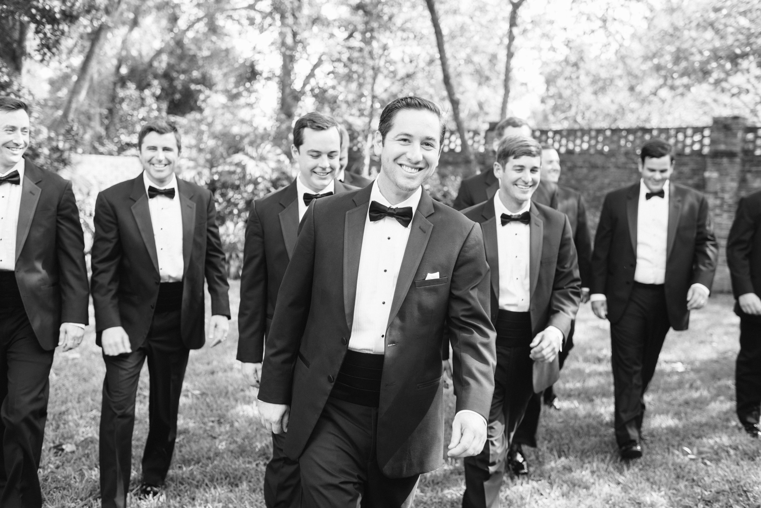 Southern Fete, Southern Wedding, Groom and Groomsman, Sarah Beth Photography