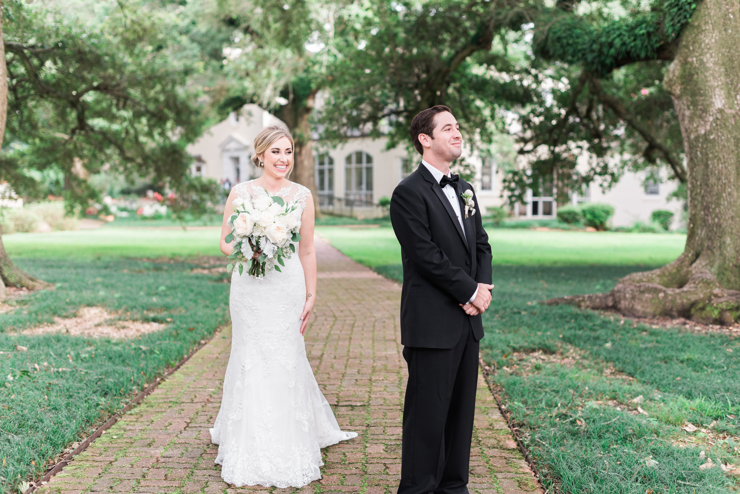 Southern Fete, Southern Wedding, Bride and Groom first look, Sarah Beth Photography