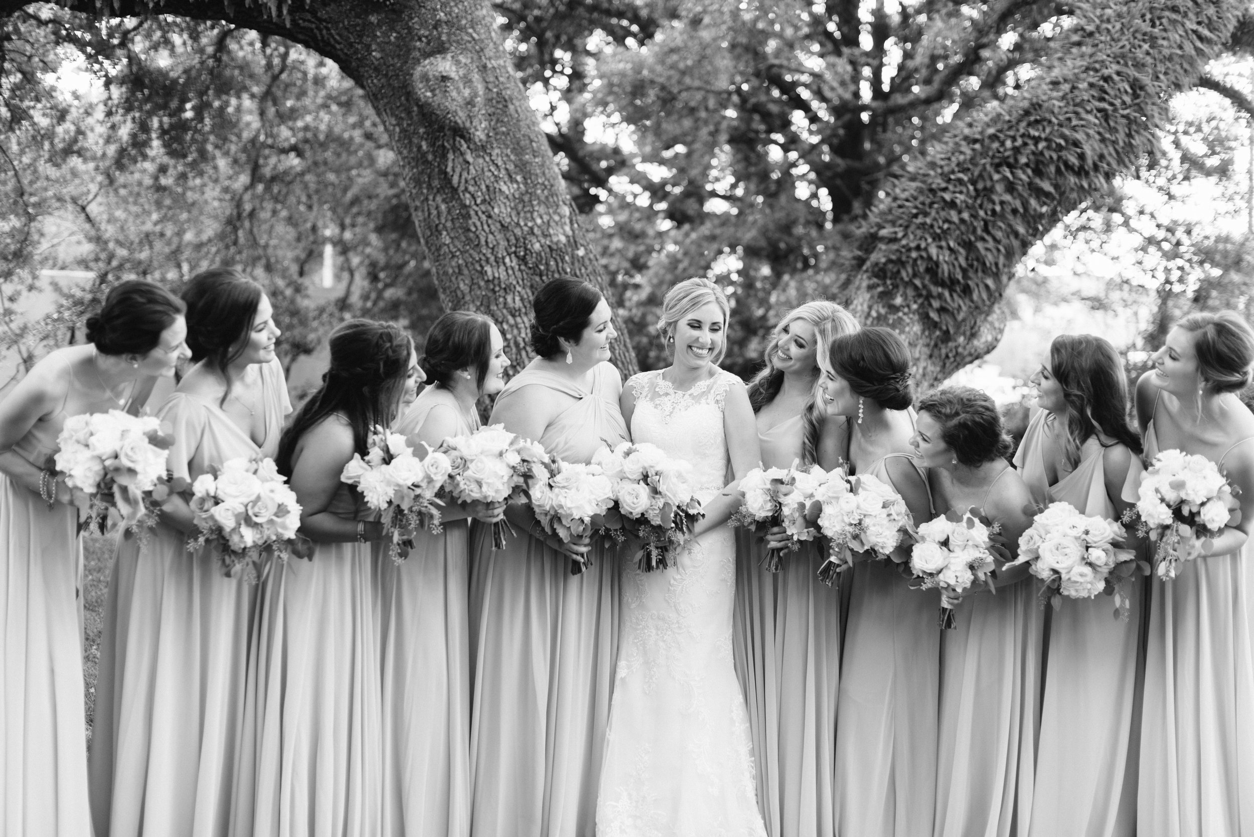 Southern Fete, Southern Wedding, Flowers by Rodney, Bride and Bridesmaids, Sarah Beth Photography