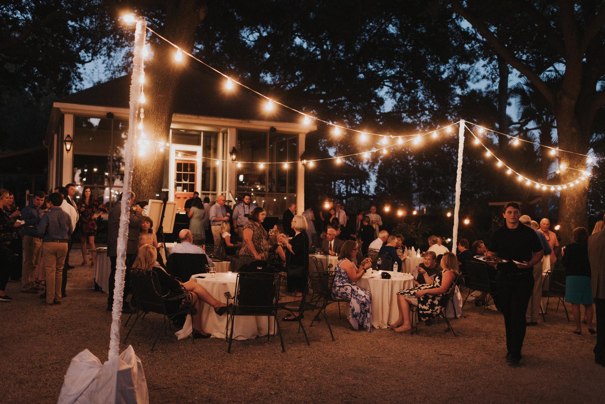 Southern Fete, Southern Wedding, Light Decor, Outside Reception