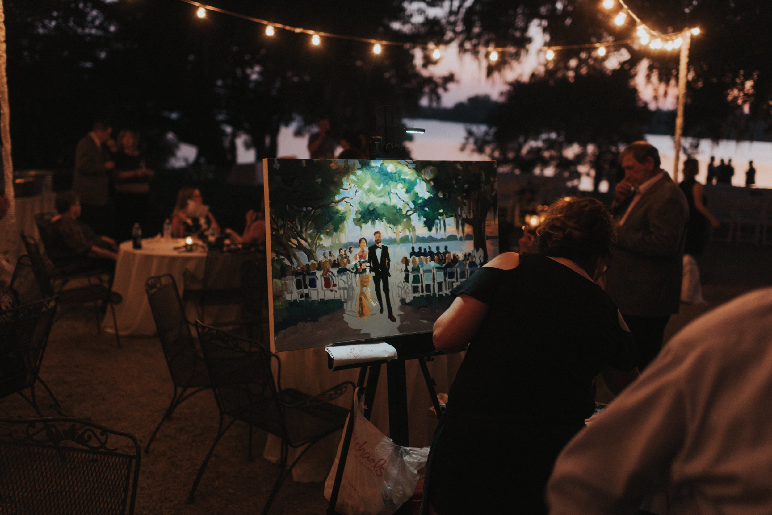 Southern Fete, Southern Wedding, Professional Wedding Painting