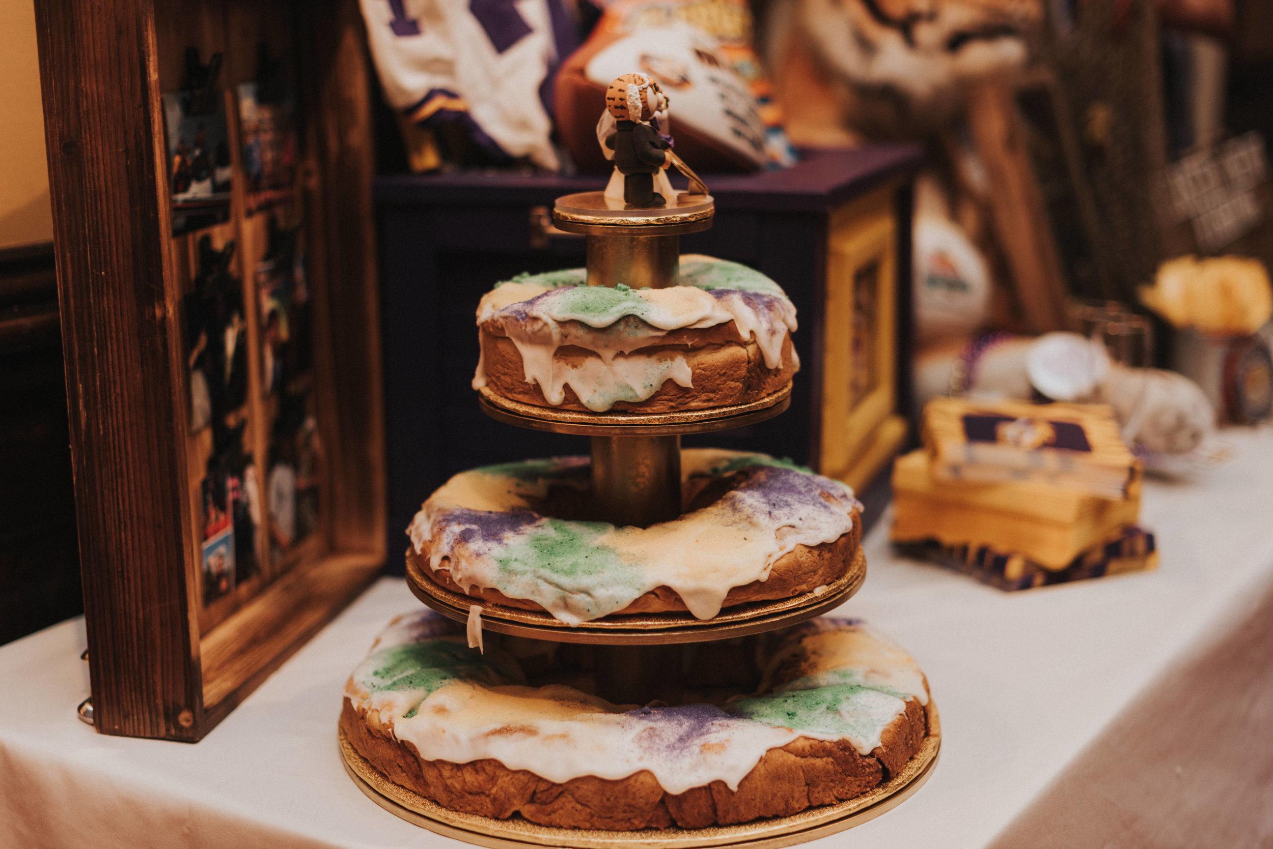 Southern Fete, Southern Wedding, King Cake, Mardi Gras