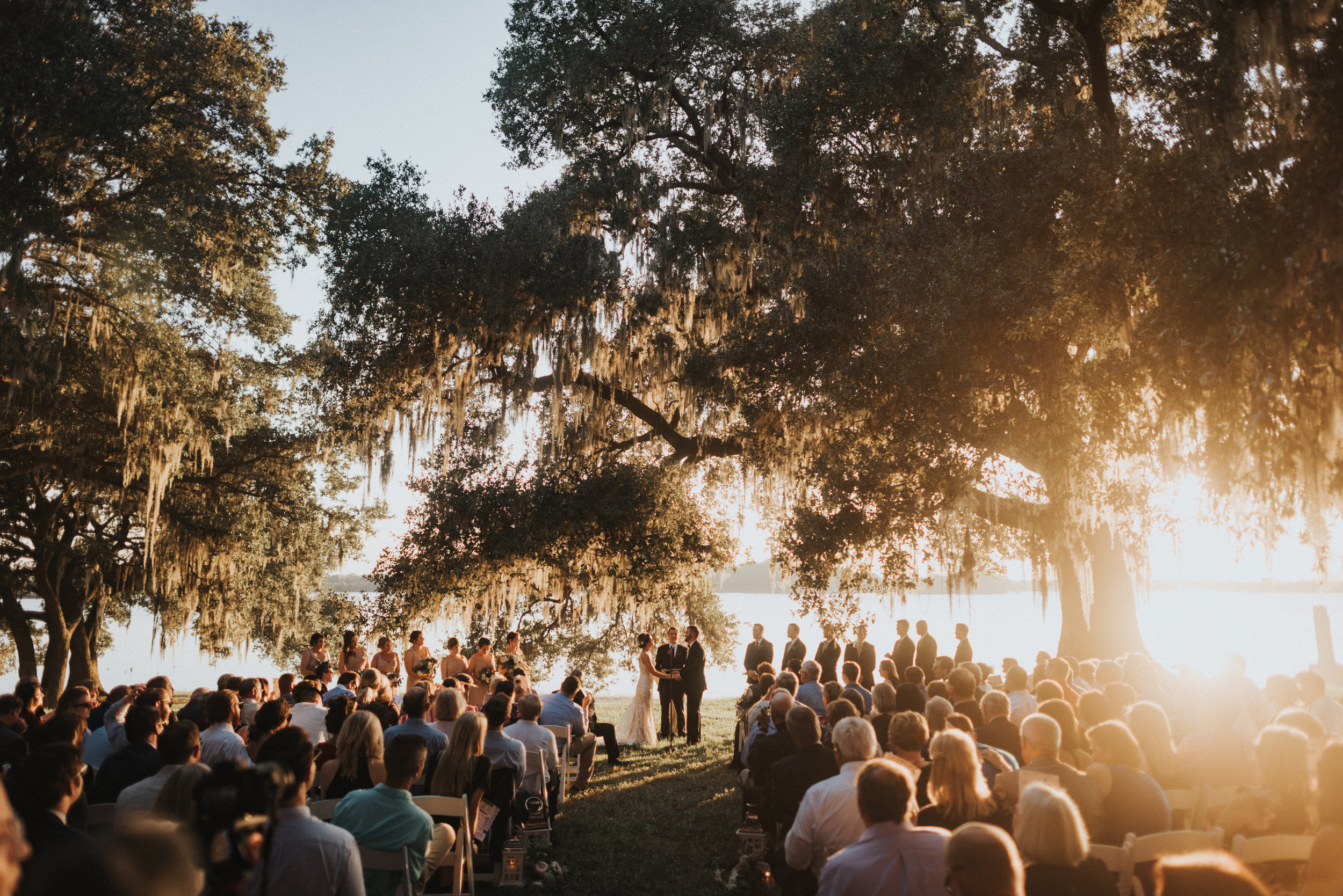 Southern Fete, Southern Wedding, Outside Wedding, Sunset Ceremony
