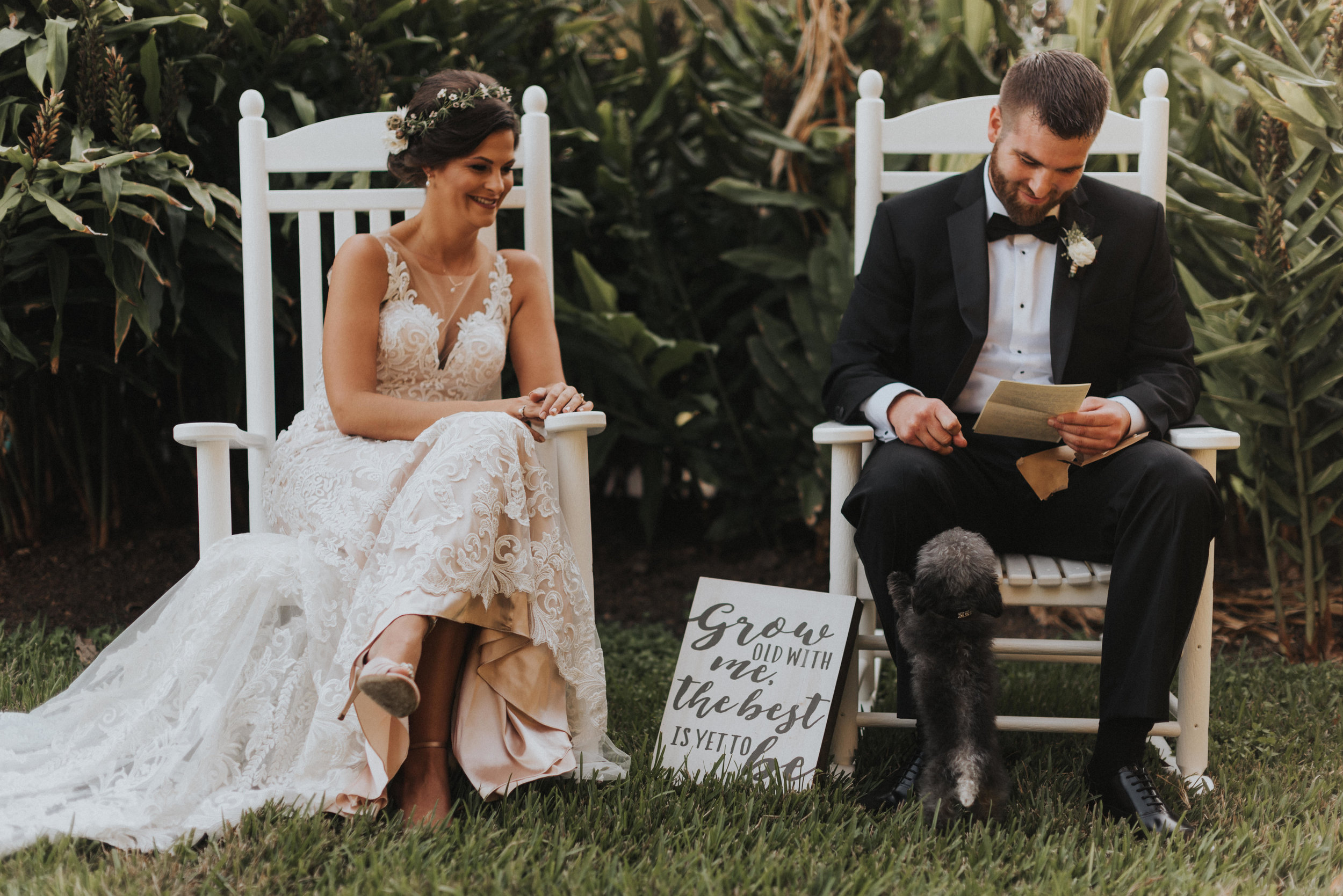 Southern Fete, Southern Wedding, Bride and Groom, Notes