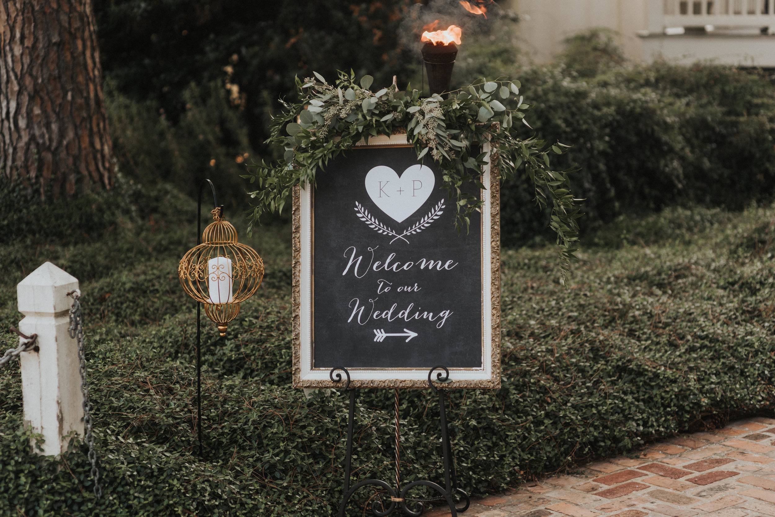 Southern Fete, Southern Wedding, Welcome Sign