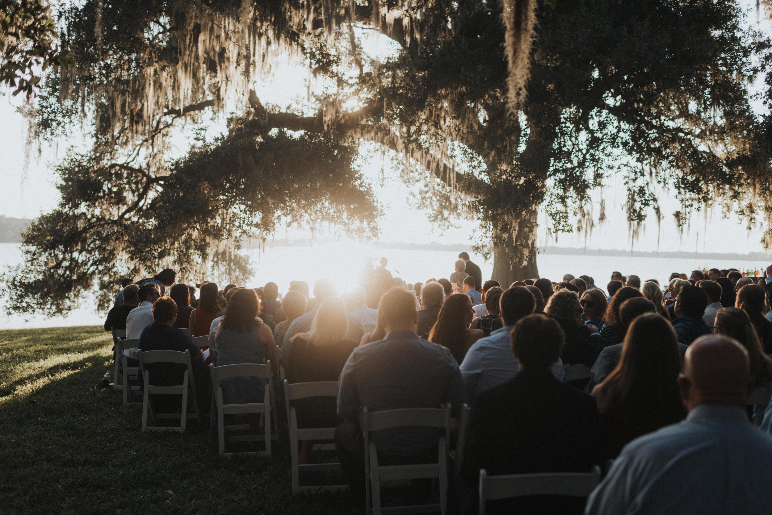 Southern Fete, Southern Wedding, Sunset Wedding Ceremony