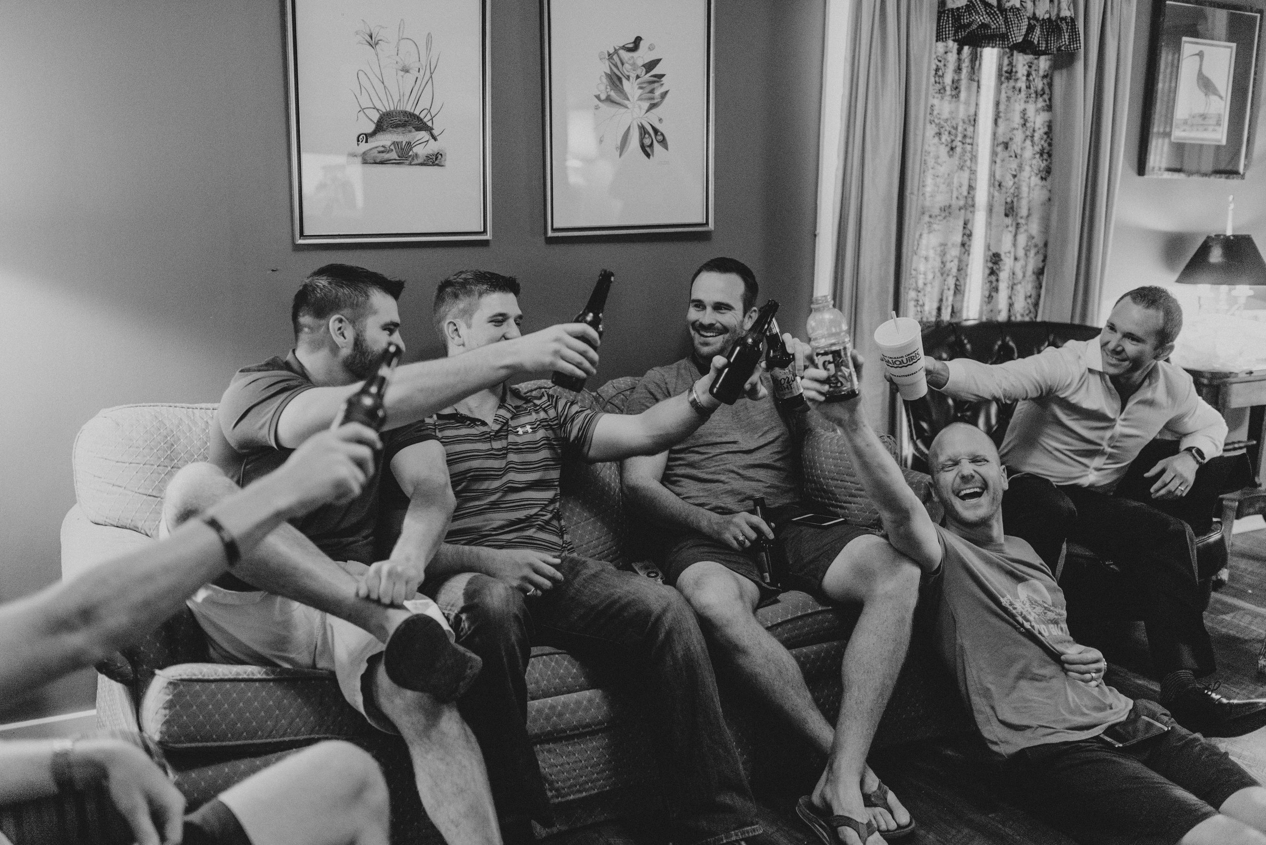 Southern Fete, Southern Wedding, Groom and Groomsman
