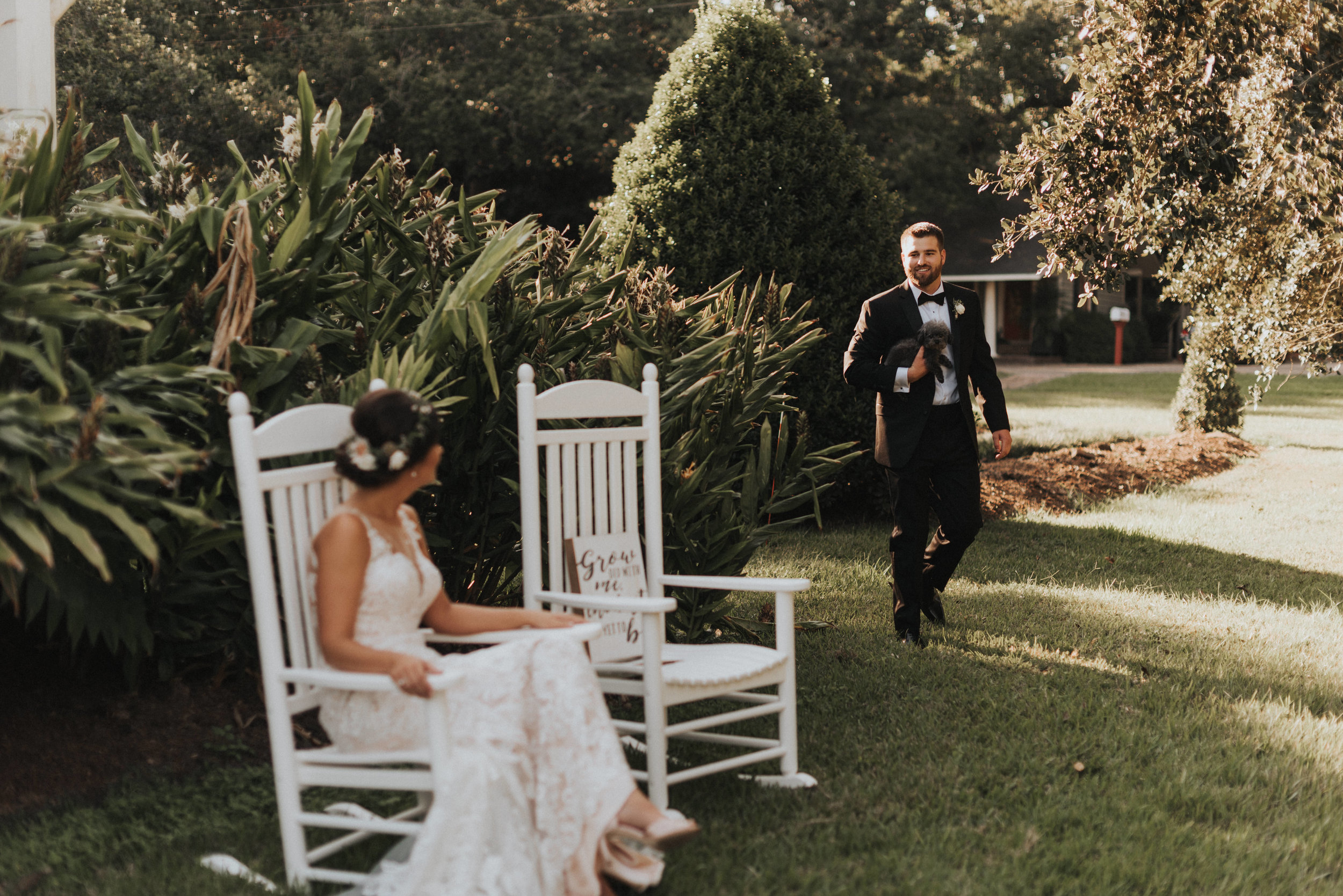 Southern Fete, Southern Wedding, Bride and Groom First Look