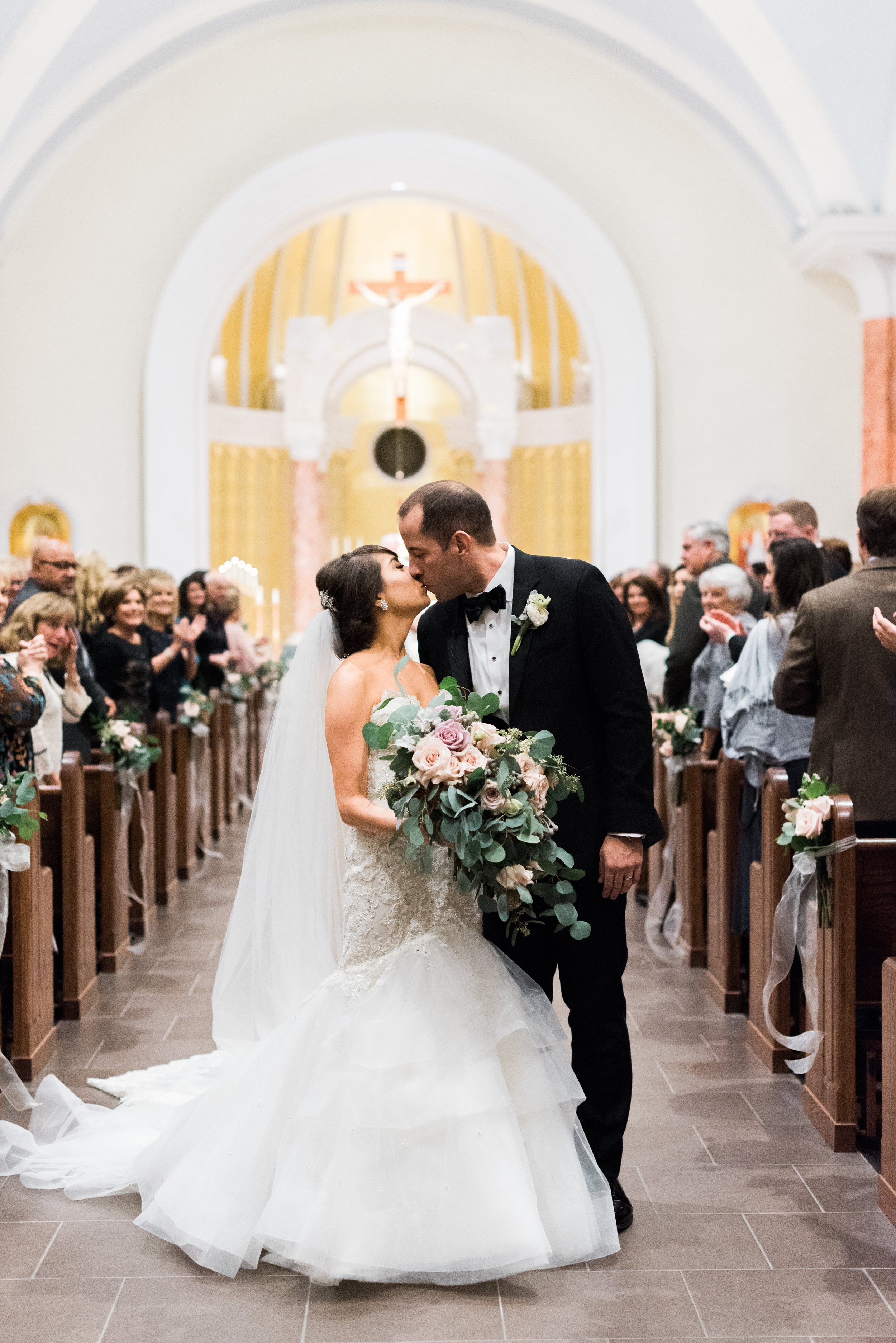 Southern Fete, Southern Wedding, St. Pius Catholic Church, Ceremony, Bride and Groom