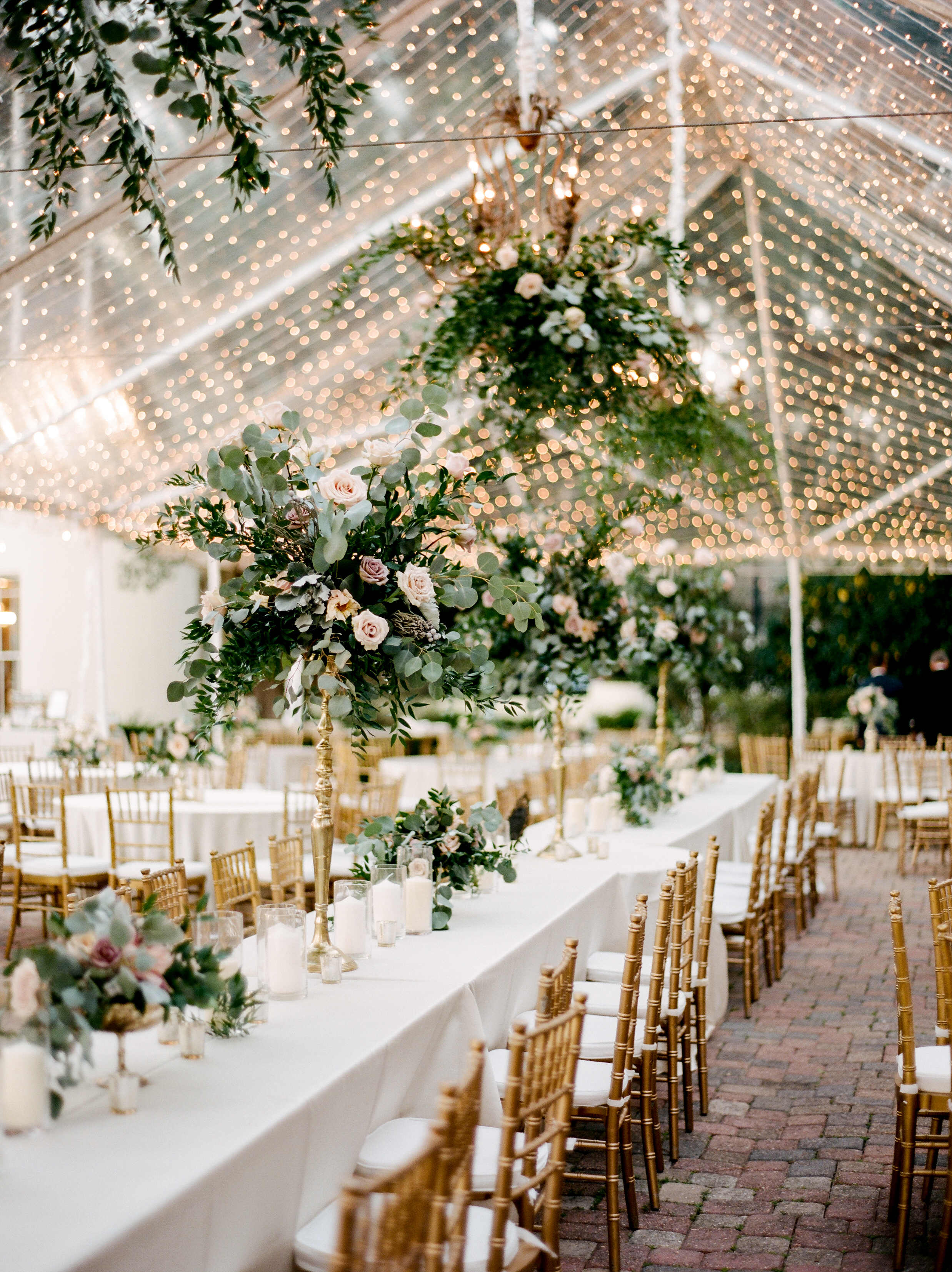 Southern Fete, Southern Wedding, Flower Bouquet, Green Center Pieces