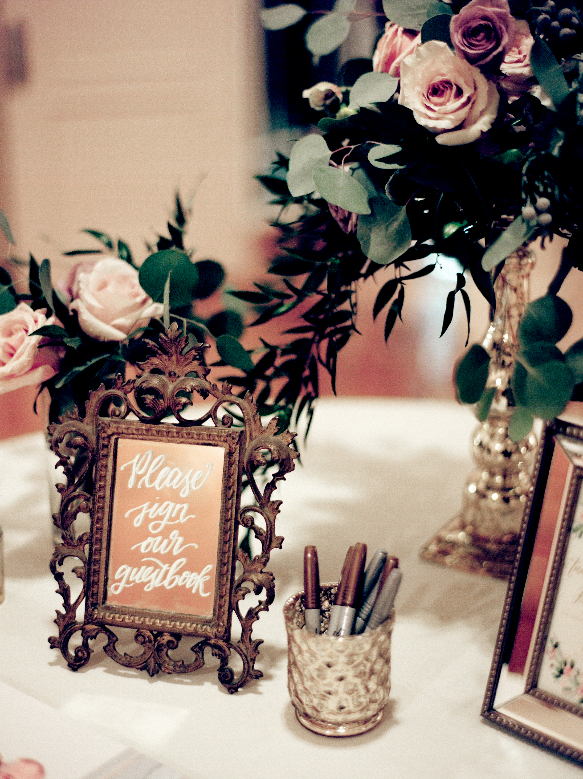 Southern Fete, Southern Wedding, Sing-In Table