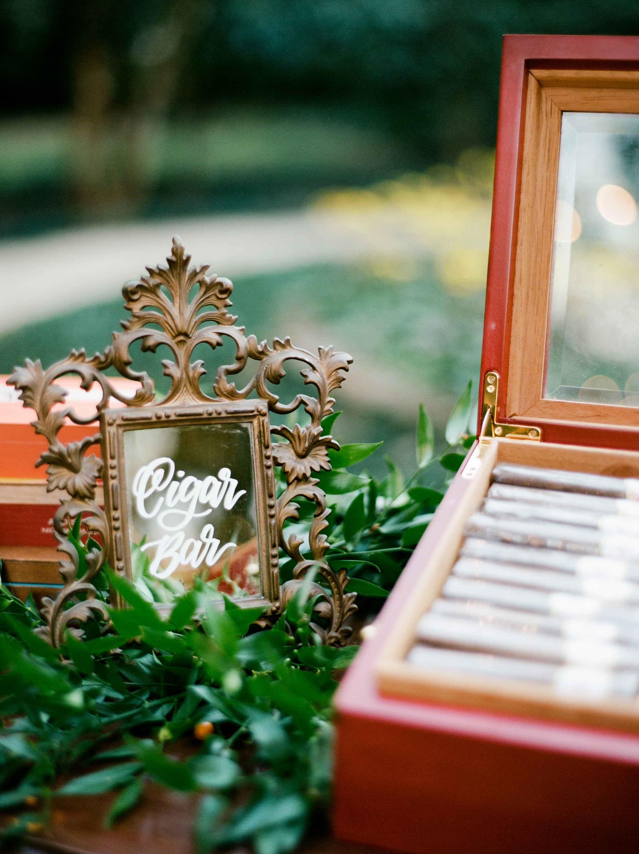 Southern Fete, Southern Wedding, Cigar Bar, Party favors