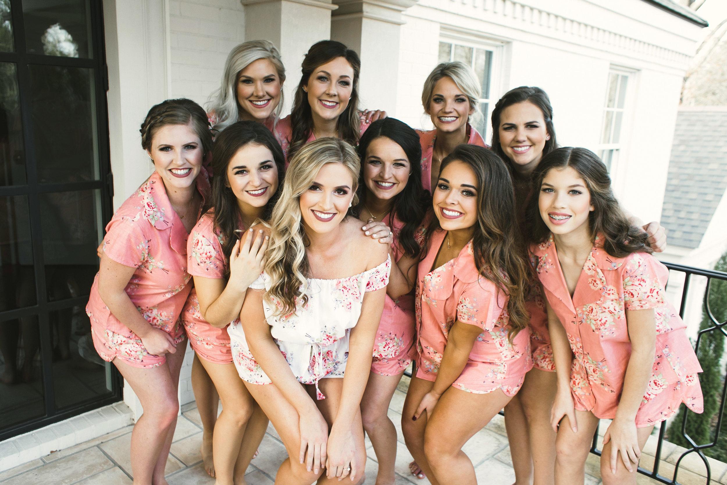 Southern Fete, Southern Wedding, Bride and Bridesmaids, Kimbrali Photography