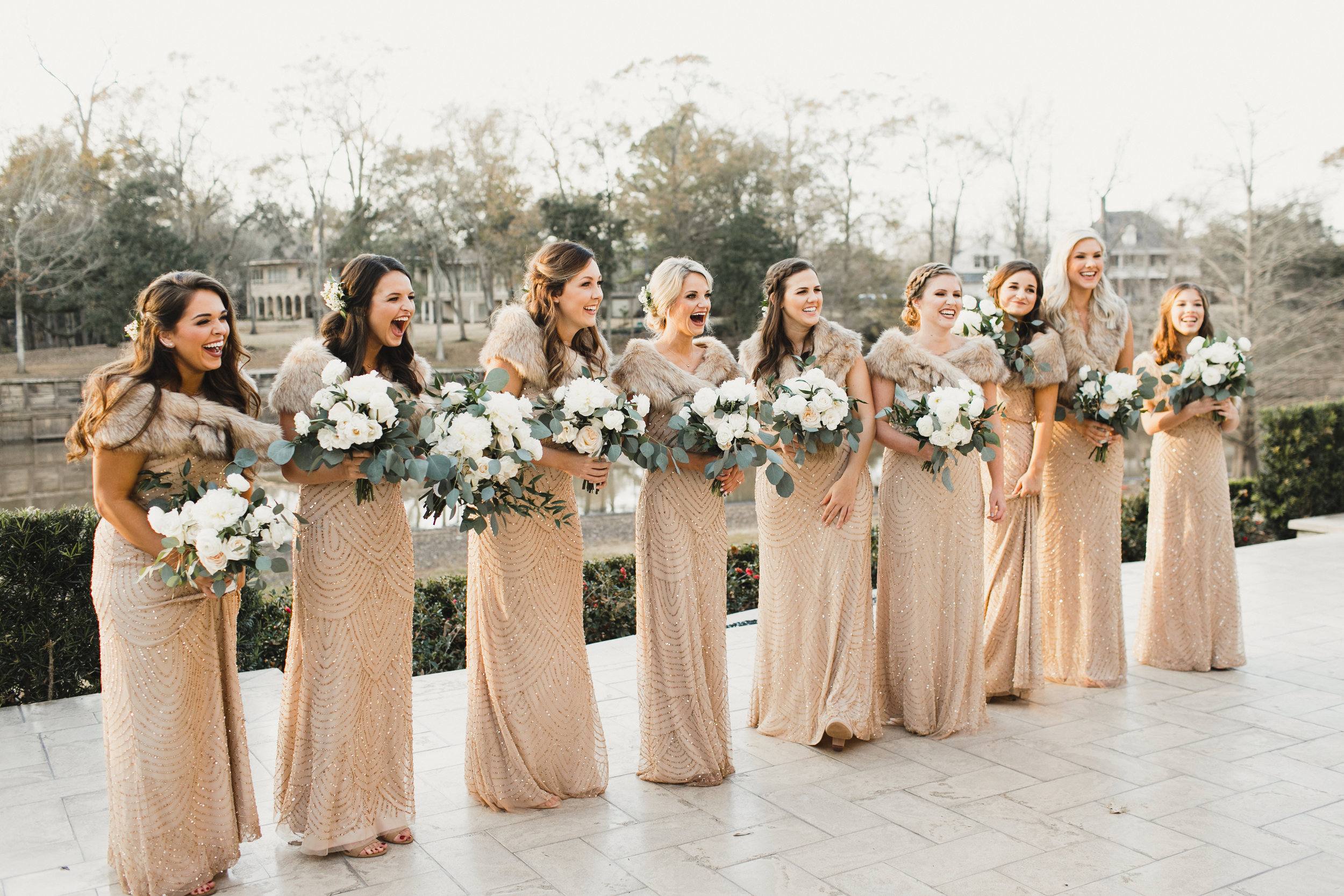 Southern Fete, Southern Wedding, Flowers by Rodney, Bridesmaid First Look, Kimbrali Photography