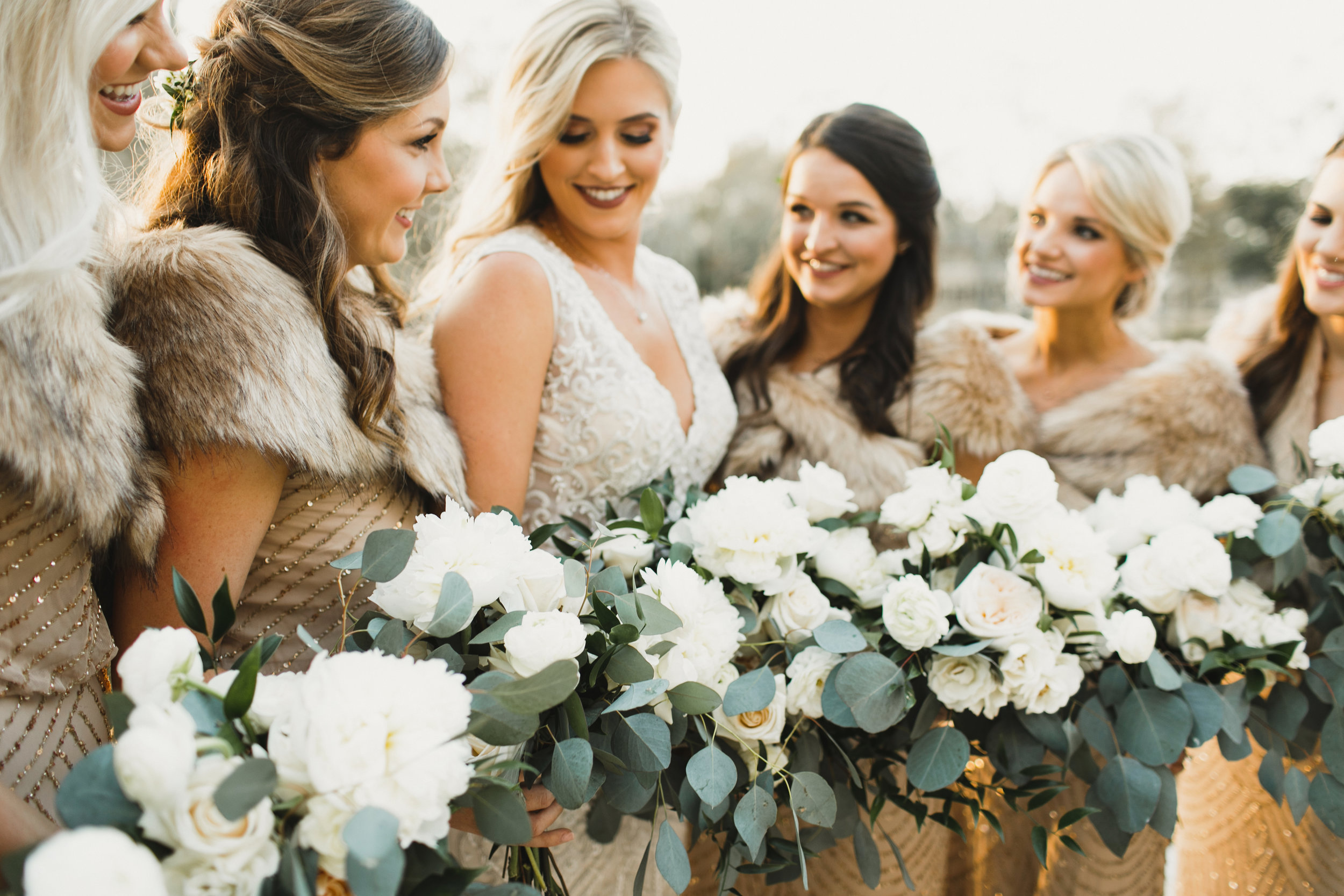 Southern Fete, Southern Wedding, Flowers by Rodney, Bride and Bridesmaids