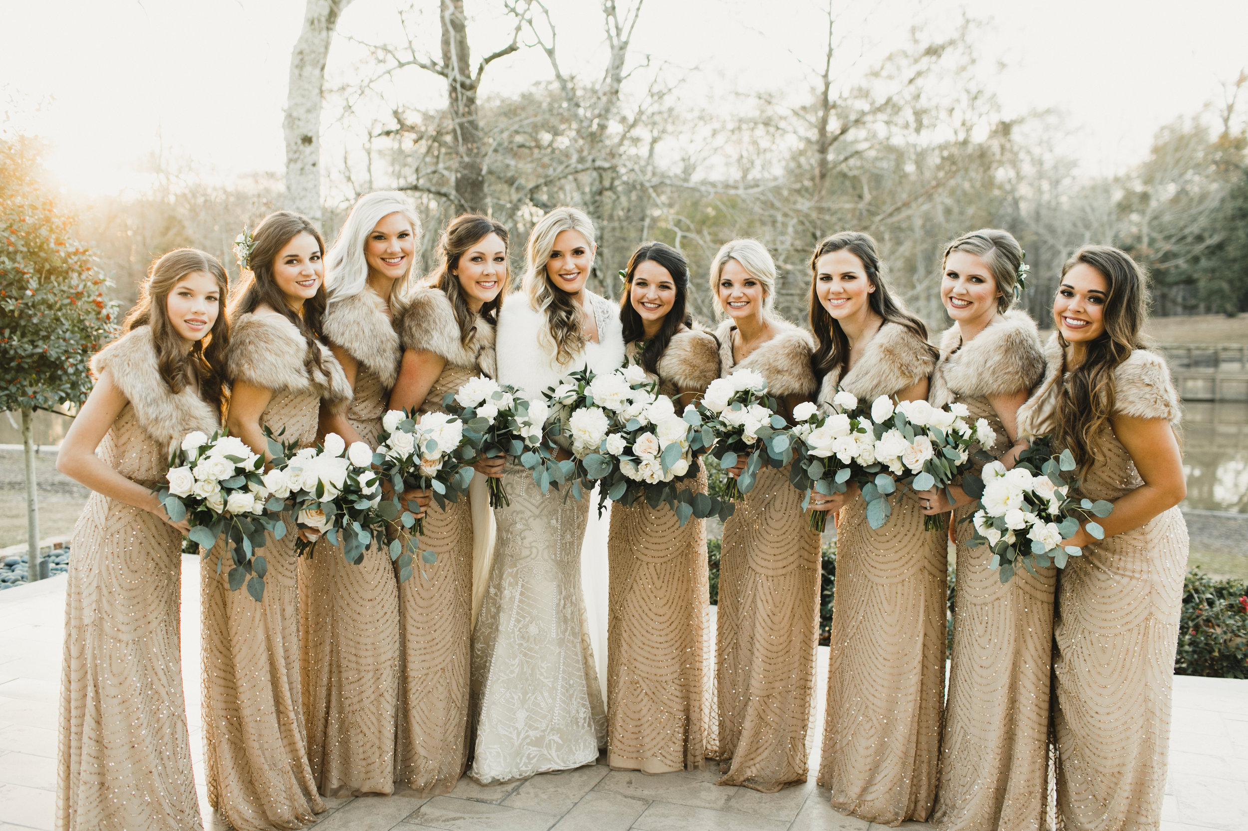 Southern Fete, Southern Wedding, Bride and Bridesmaids, Flowers by Rodney, Salon Elle Rae, Kimbrali Photography