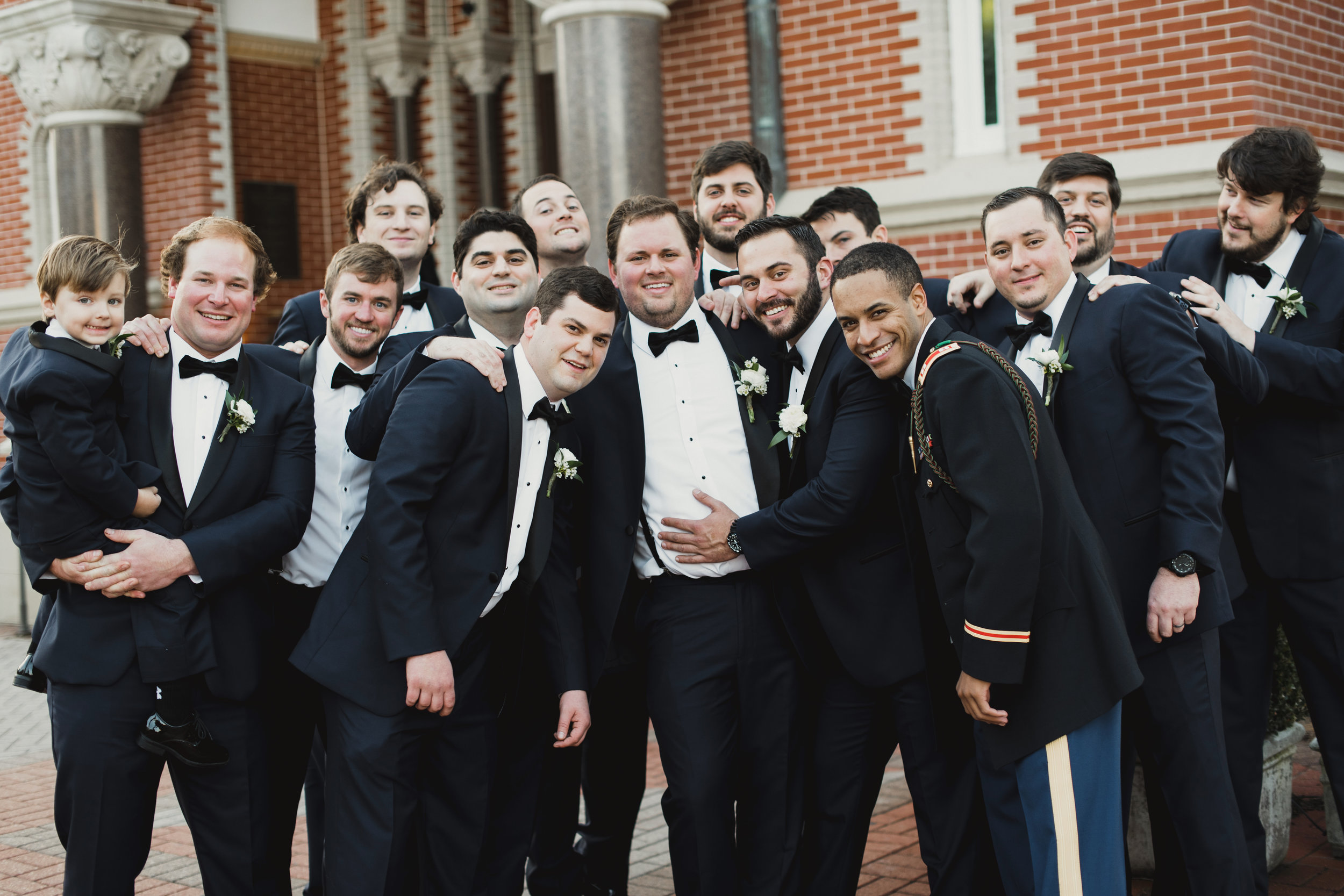 Southern Fete, Southern Wedding, Groom and Groomsman, Kimbrali Photography, Flowers by Rodney