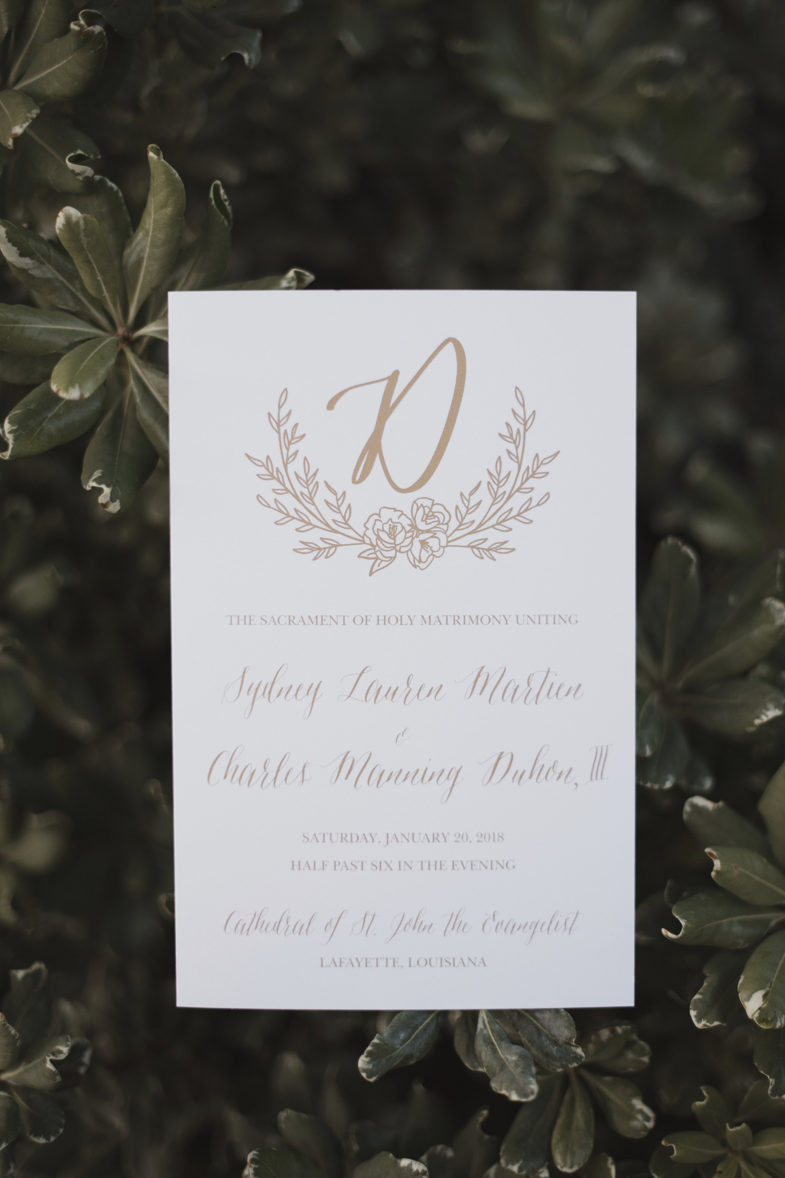 Southern Fete, Southern Wedding, Ceremony Program, Kimbrali Photography, Mary Catherine Calligraphy