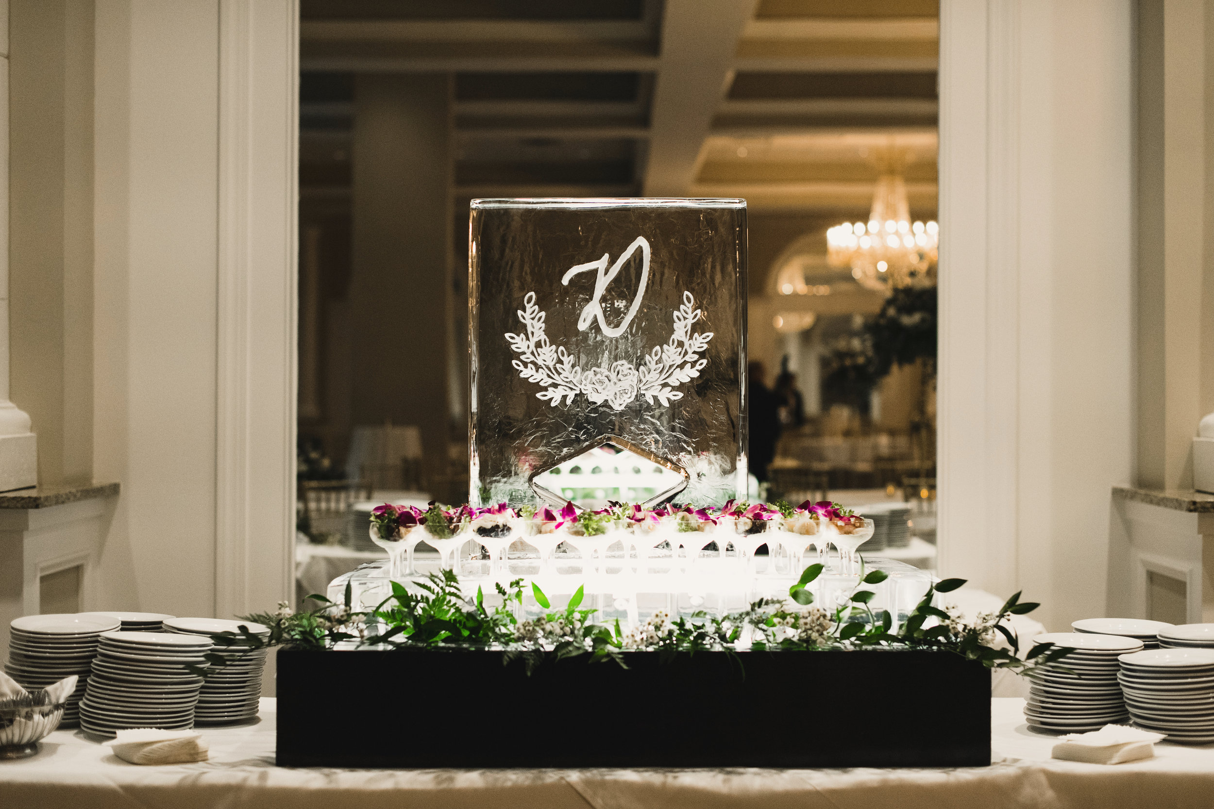 Southern Fete, Southern Wedding, Ice Sculpture, Kimbrali Photography, Crystal Weddings