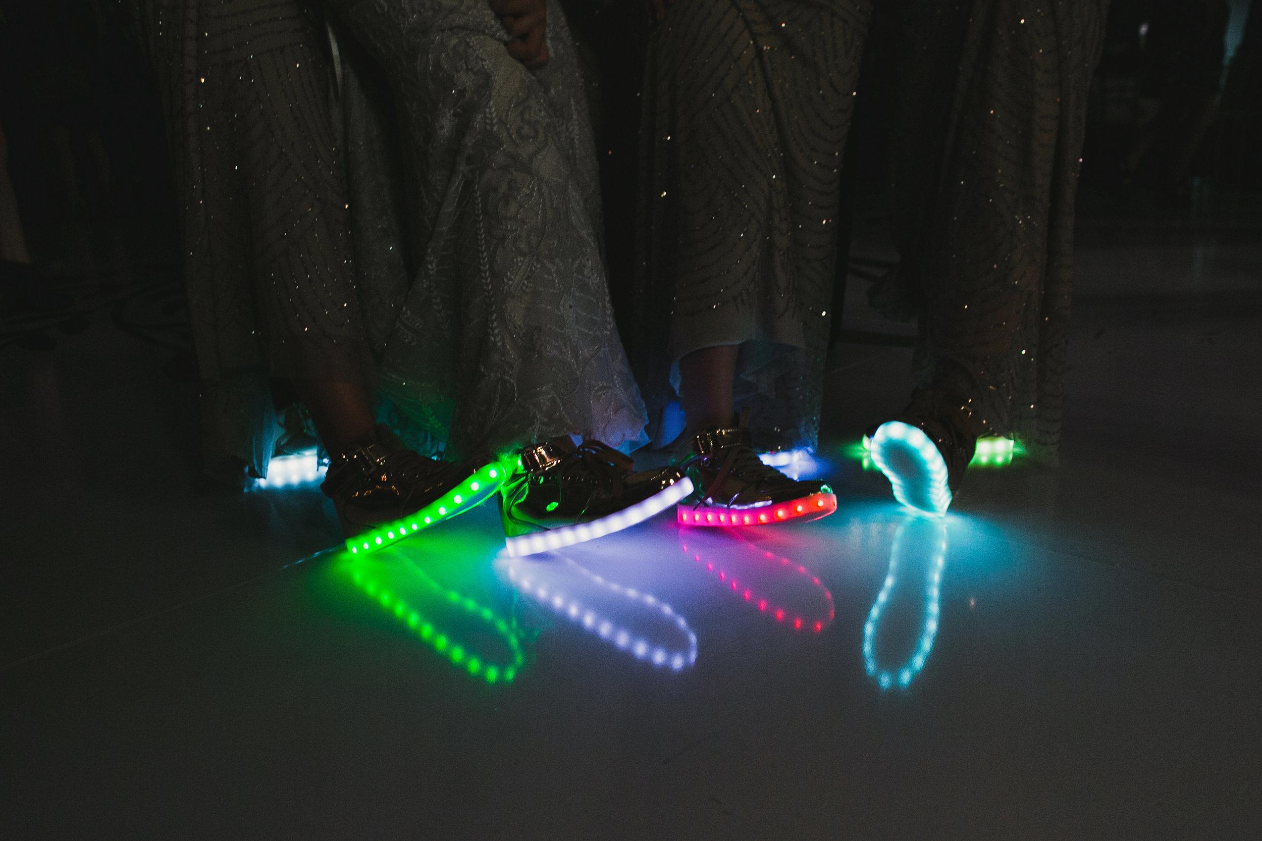 Southern Fete, Southern Wedding, Light-up shoes, Kimbrali Photography, Le Pavillon