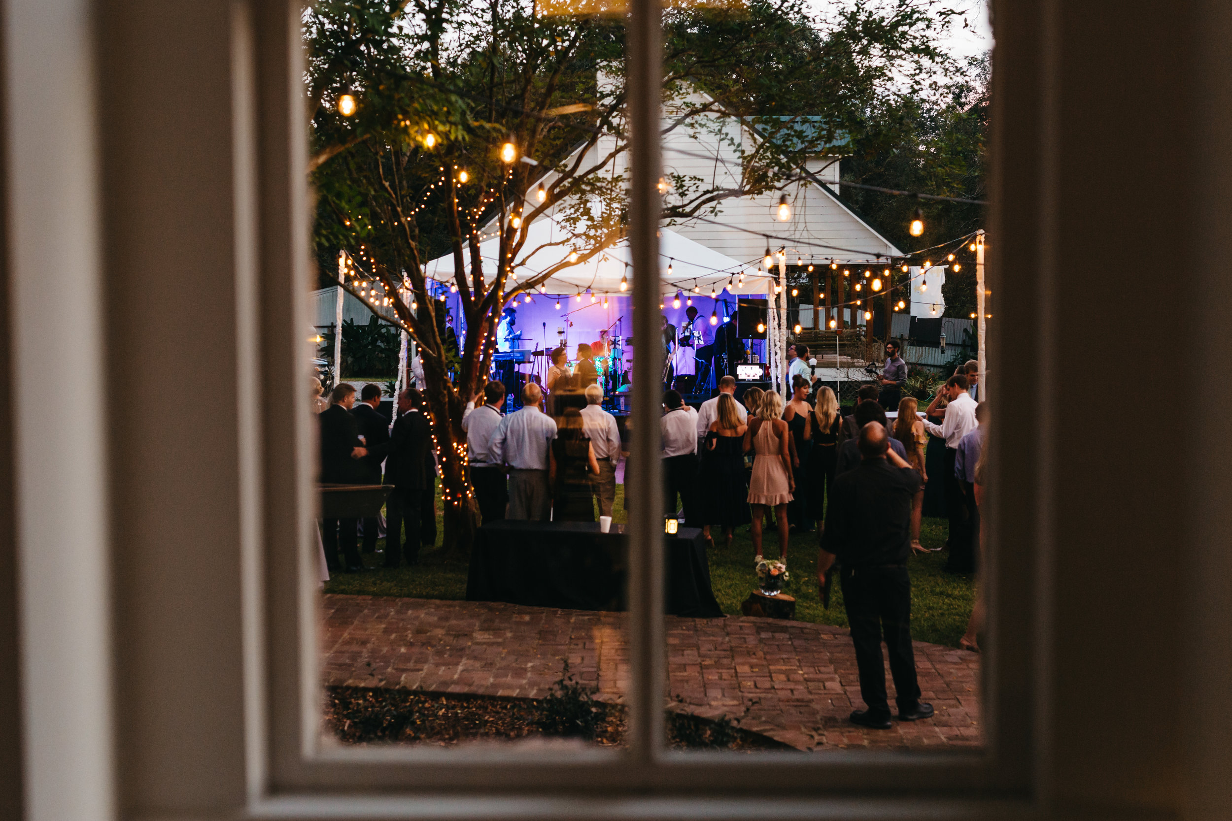 Southern Fete, Southern Wedding, Outside Reception, Band
