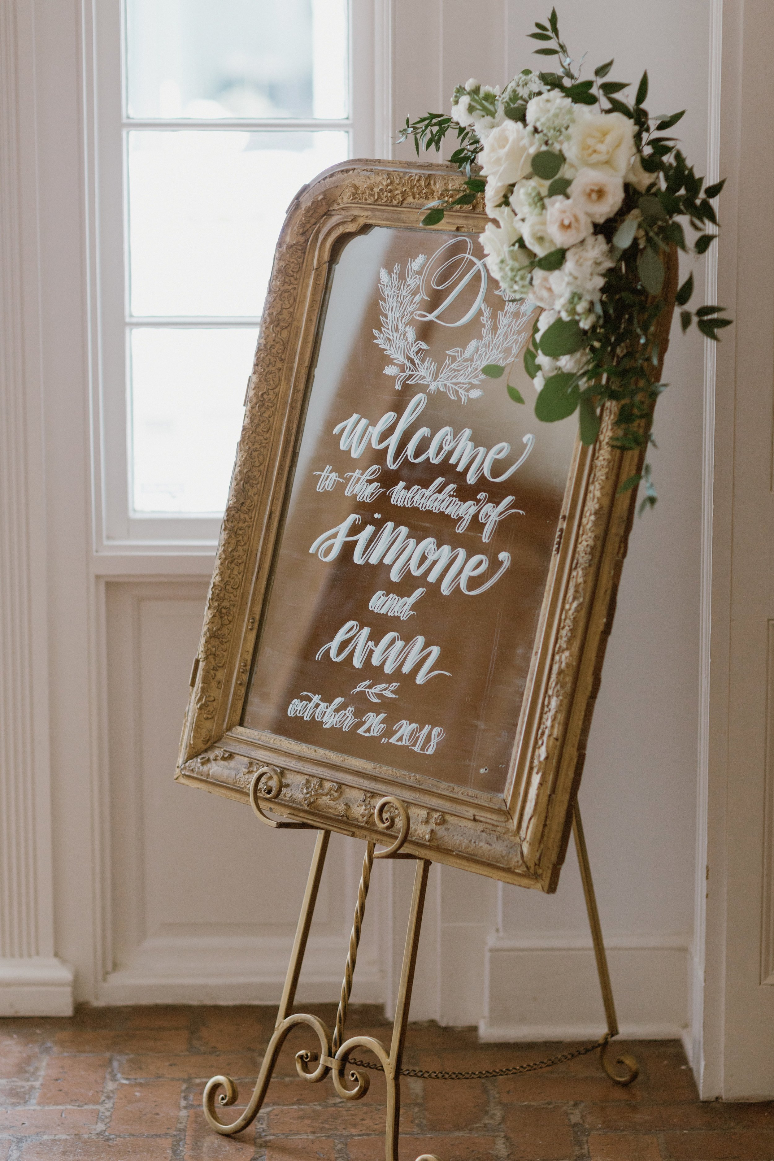 Southern Fete, Southern Wedding, Welcome Sign, Root Floral Design, Mary Catherine Calligraphy