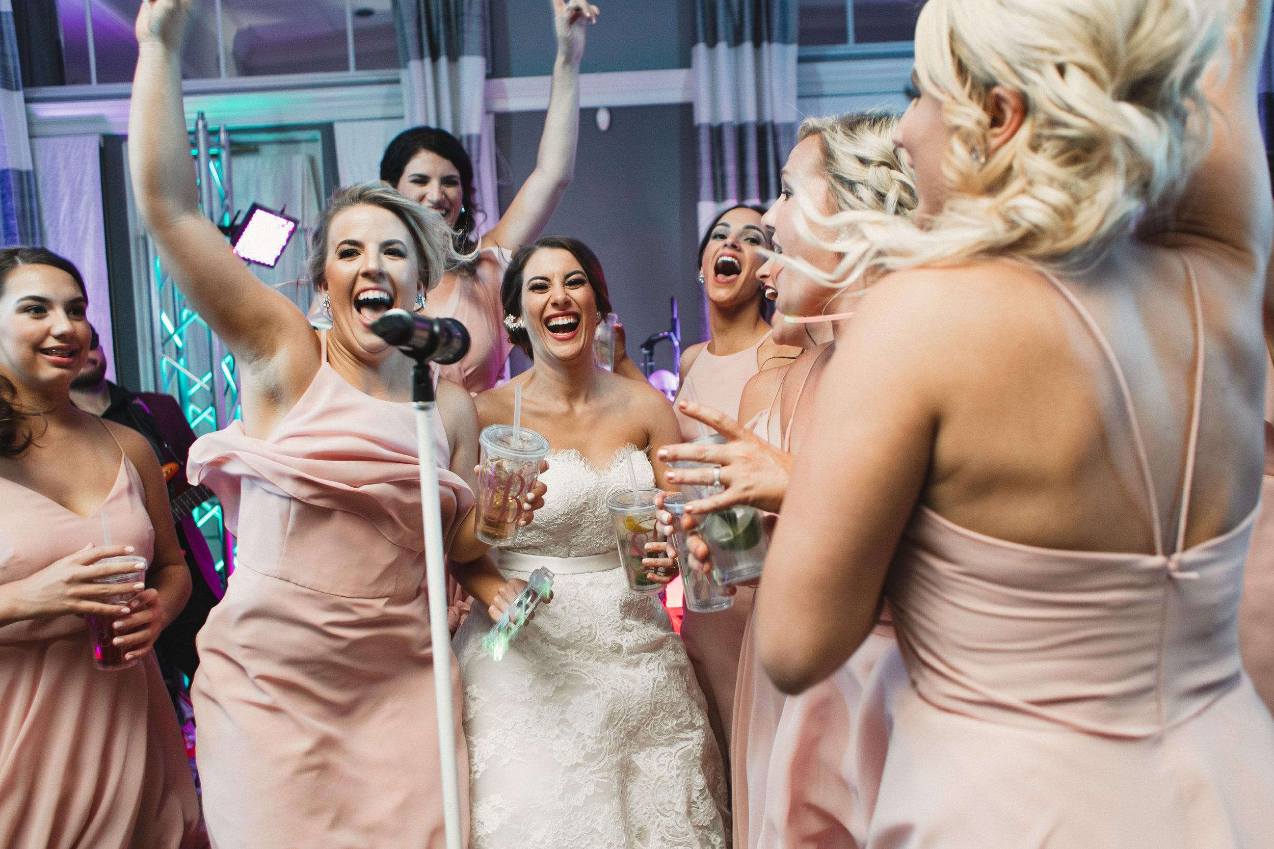 Southern Fete, Southern Wedding, Three37 Band, Bride and Bridesmaids, Kimbrali Photography