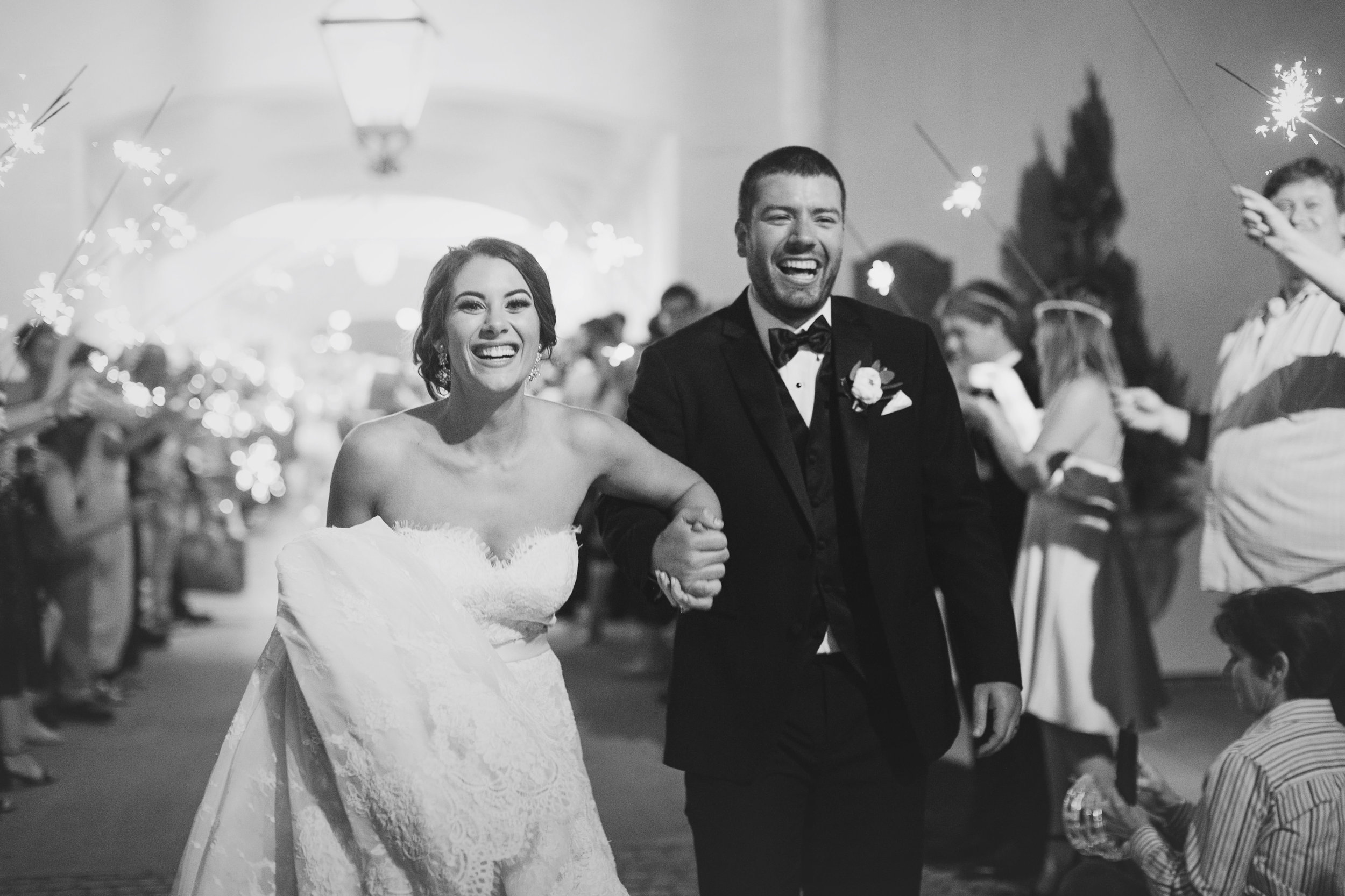 Southern Fete, Southern Wedding, City Club, Sparkler Exit, Bride and Groom, Kimbrali Photography