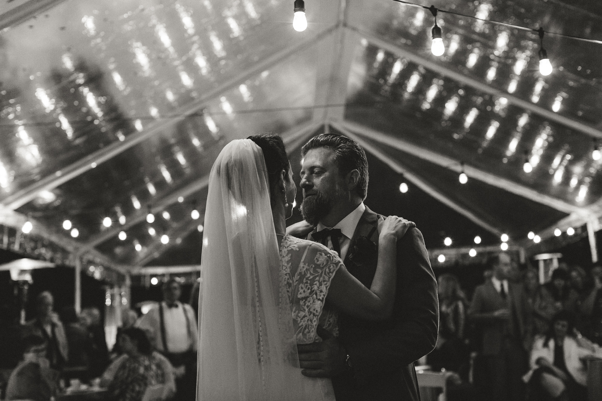 Southern Fete, Southern Wedding, Bride and Groom first dance, Reception, Maison Madeleine