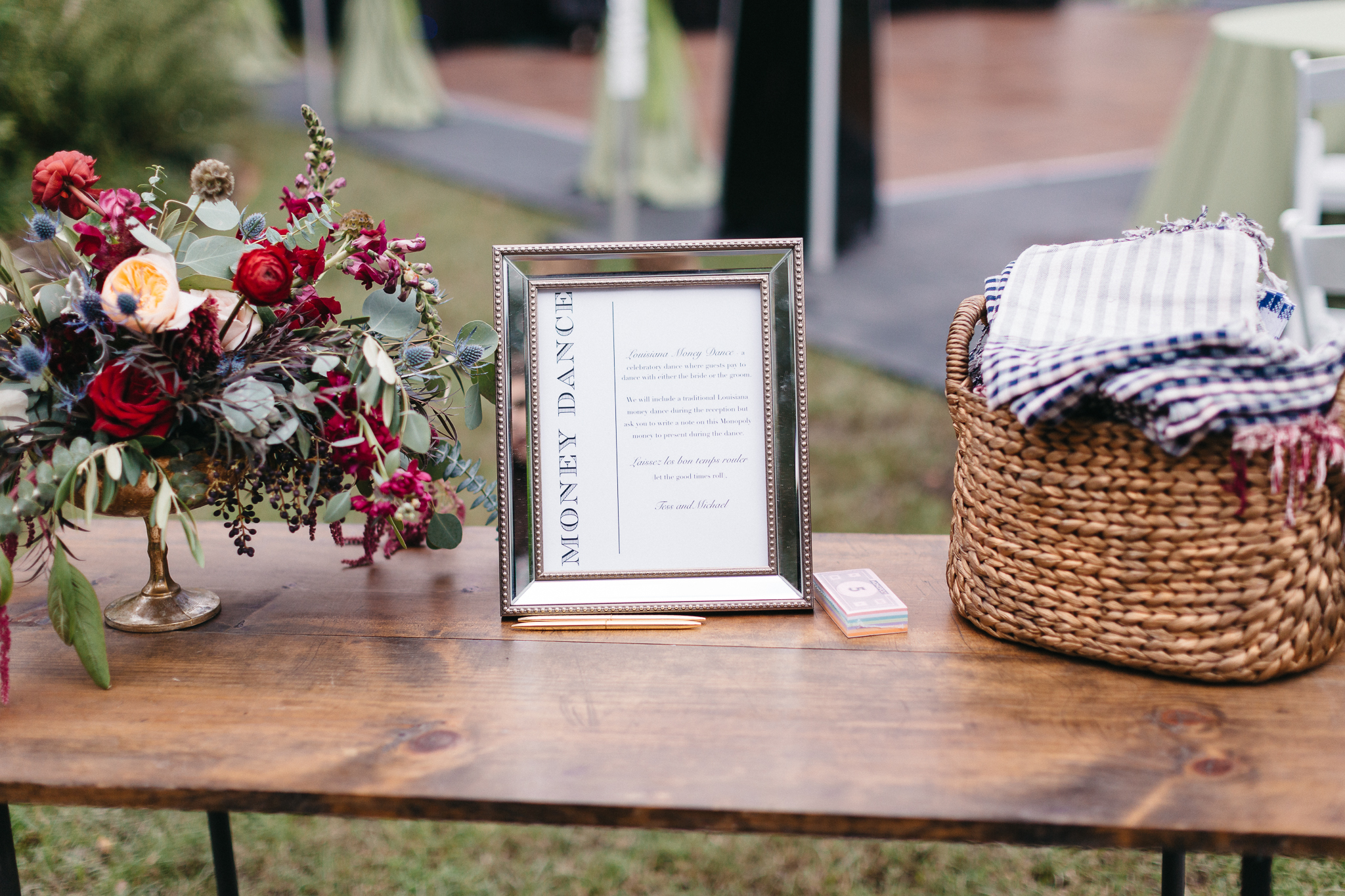 Southern Fete, Southern Wedding, Flowers by Rodney, Money Dance Sign, Pure Vintage Rentals